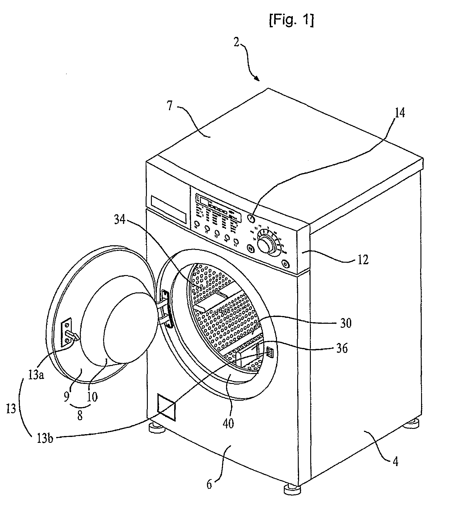 patent us8016444 - washing machine having lamp device and control method of the same