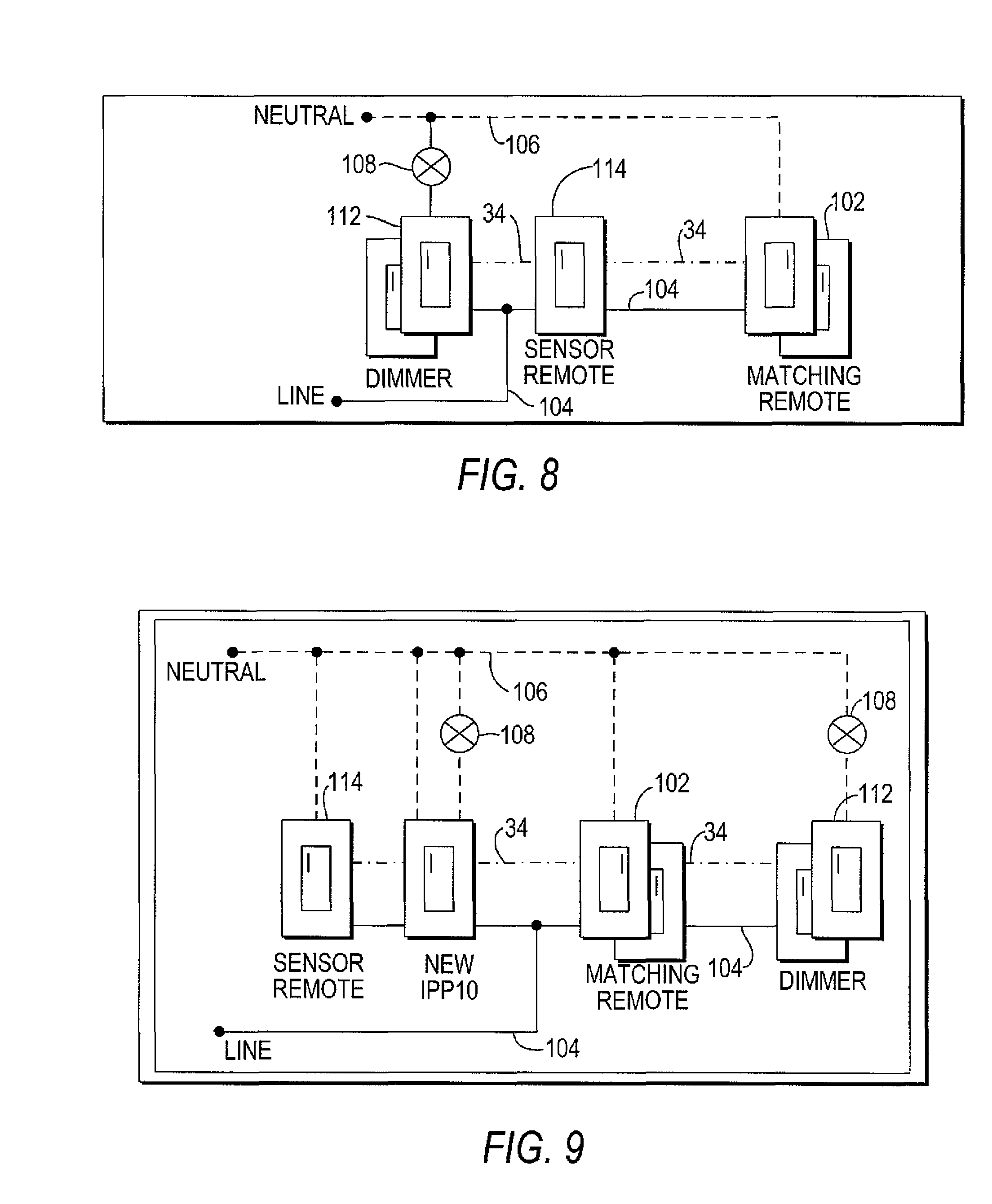 US08018166 20110913 D00006 patent us8018166 lighting control system and three way occupancy ceiling occupancy sensor wiring diagram at bayanpartner.co