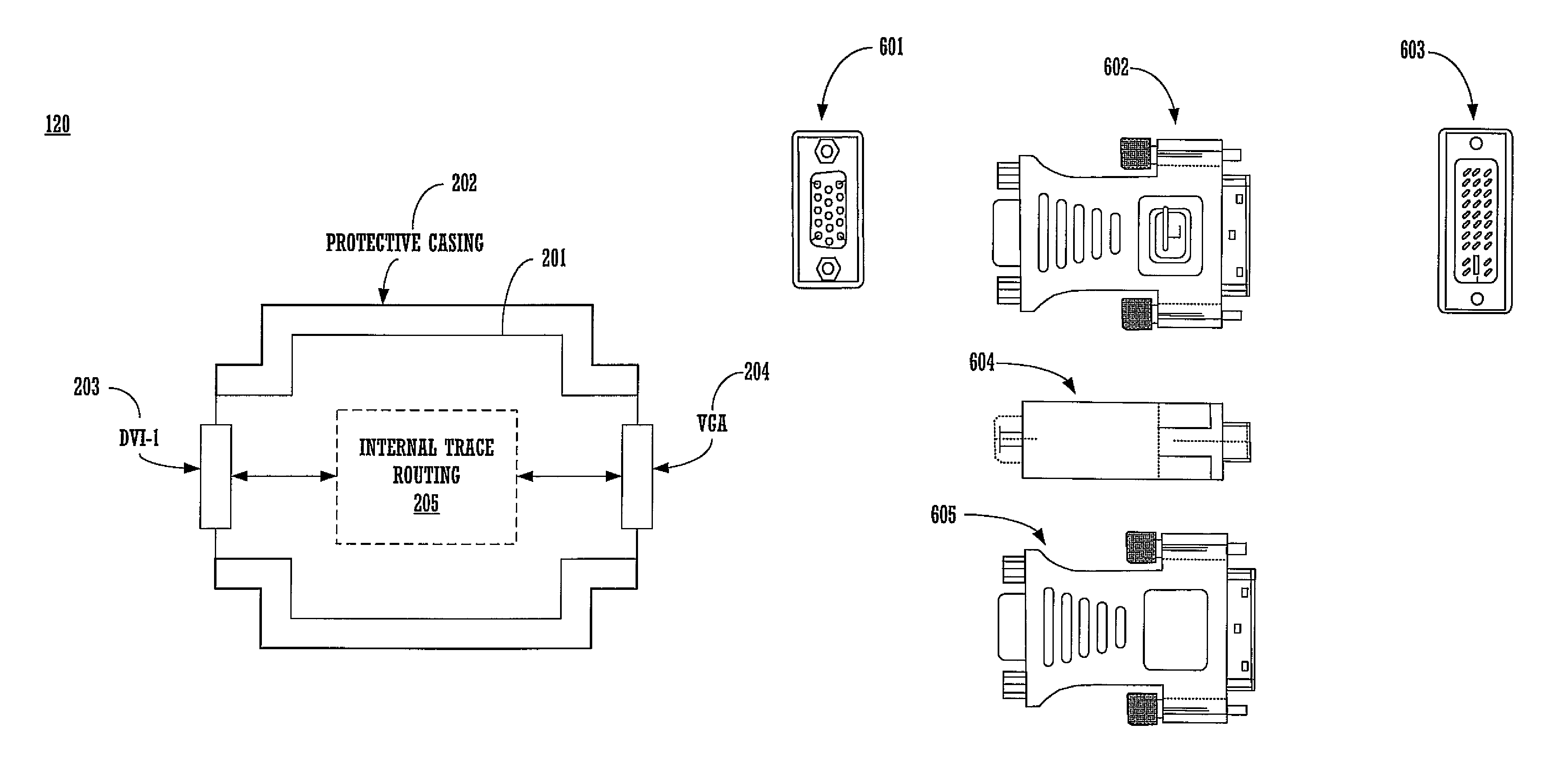 Patent Us8021194 Controlled Impedance Display Adapter Google Patents Cable Pinout Fabrication Diagrams Drawing