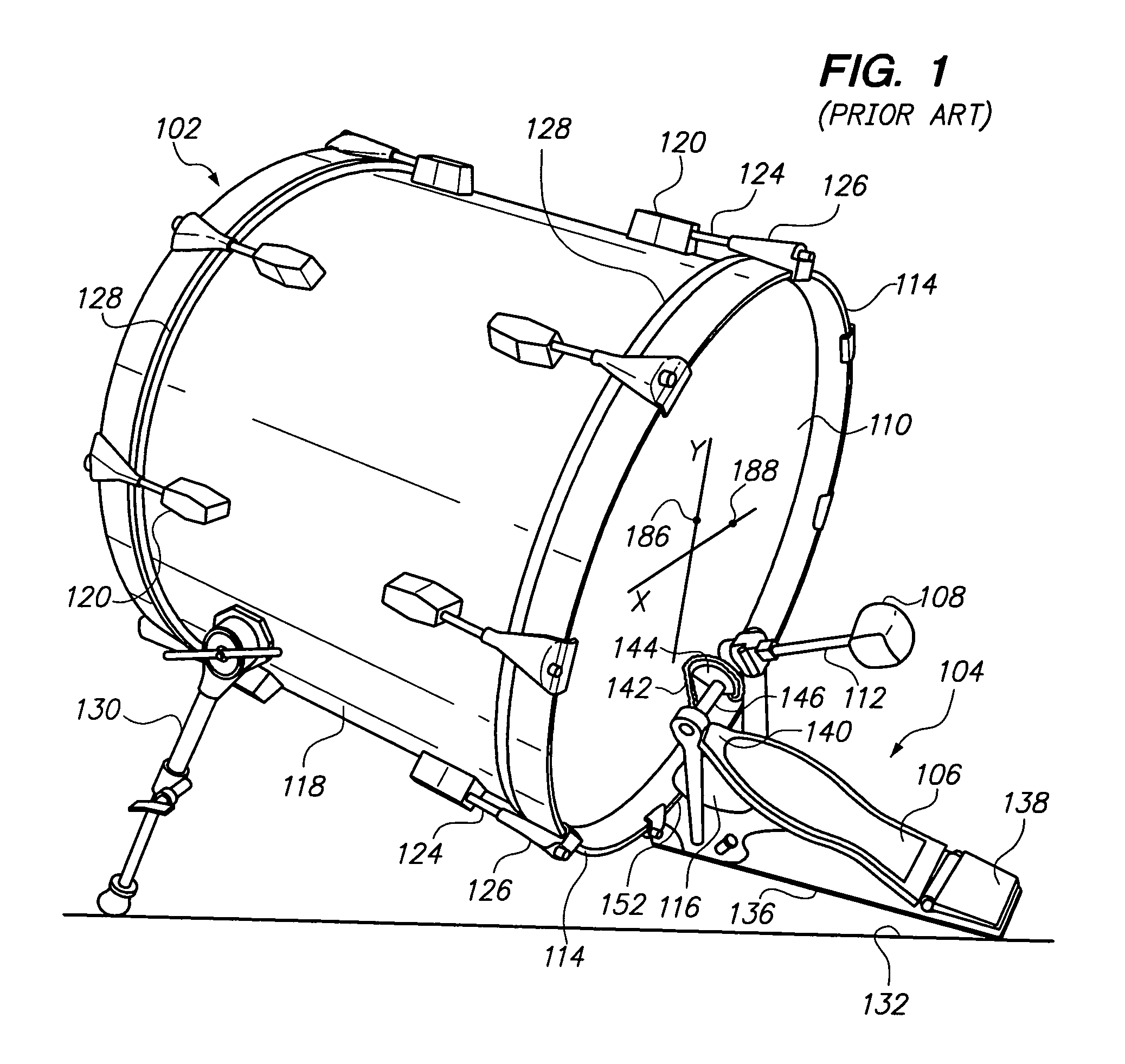 Patent US8022282 - Baseplate for use with bass drum ...