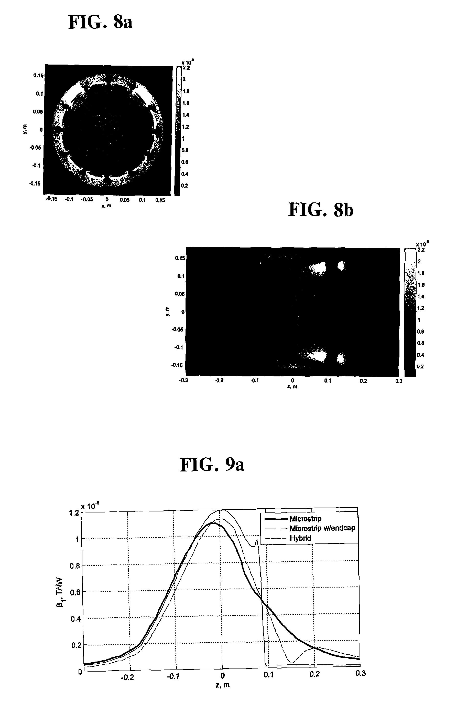 patent us8022705 - microstrip coil designs for mri devices