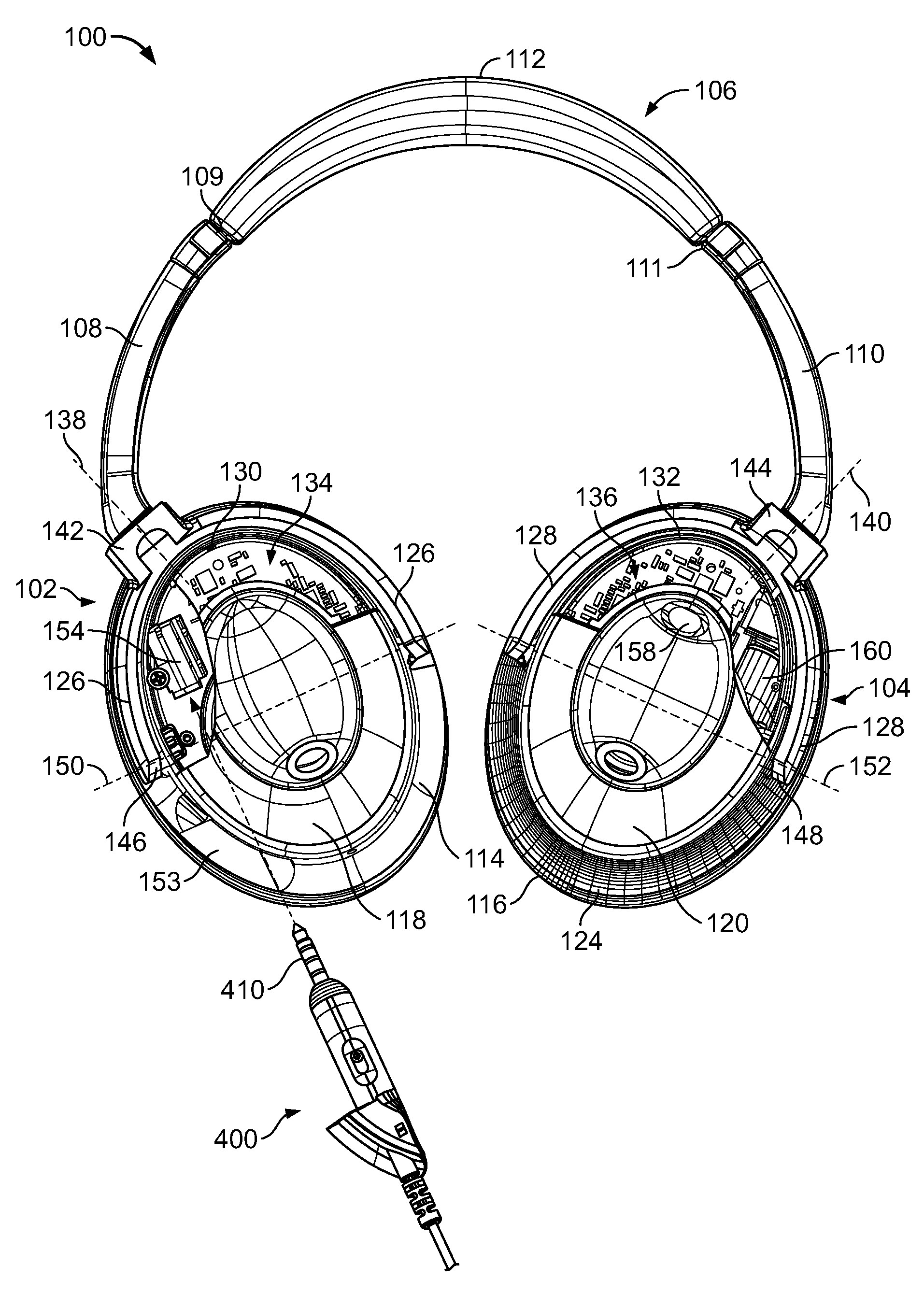 US08031878 20111004 D00000 patent us8031878 electronic interfacing with a head mounted bose headphone wiring diagram at highcare.asia