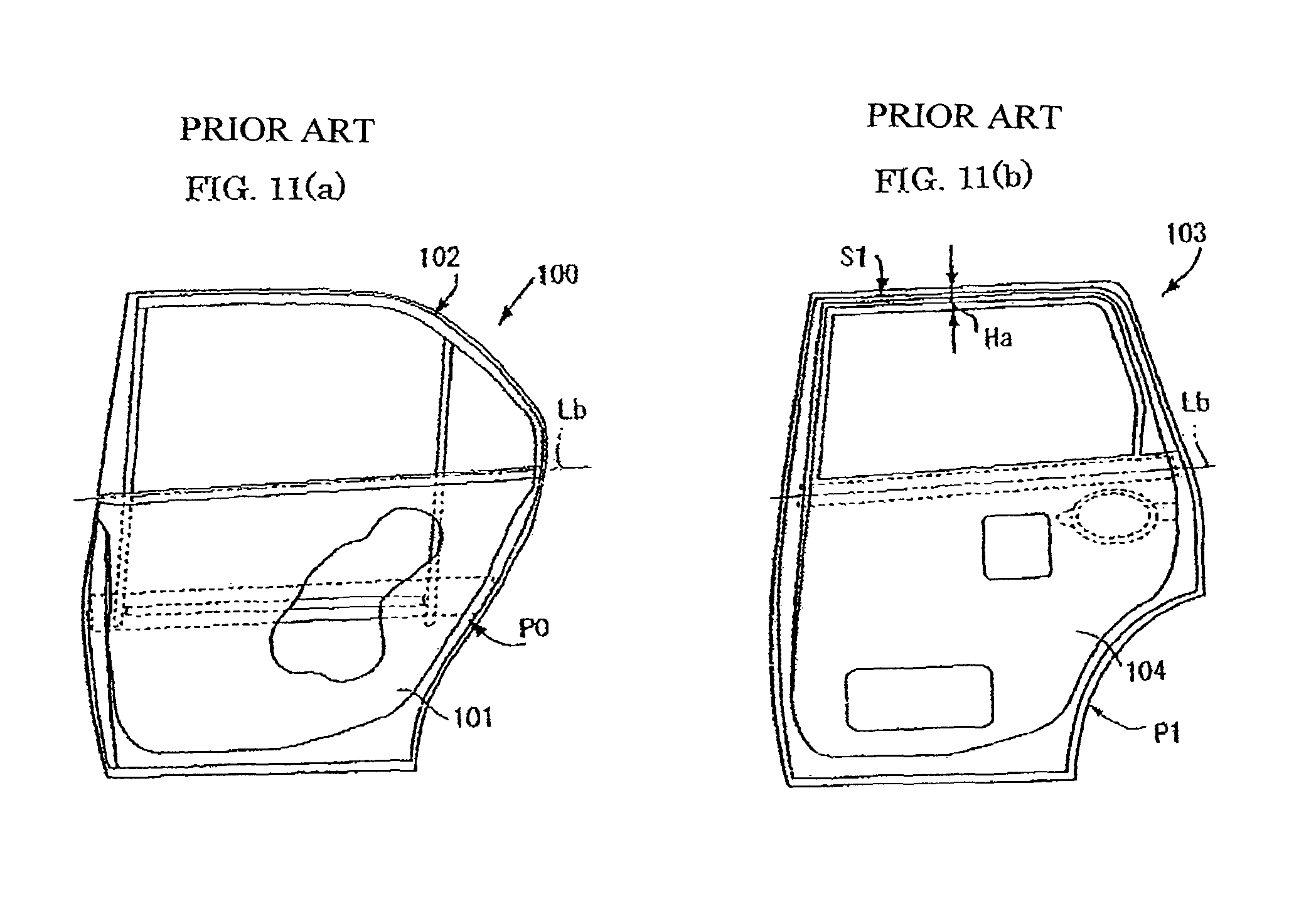 Patent Drawing  sc 1 st  Google & Patent US8042859 - Structure of car door - Google Patents pezcame.com