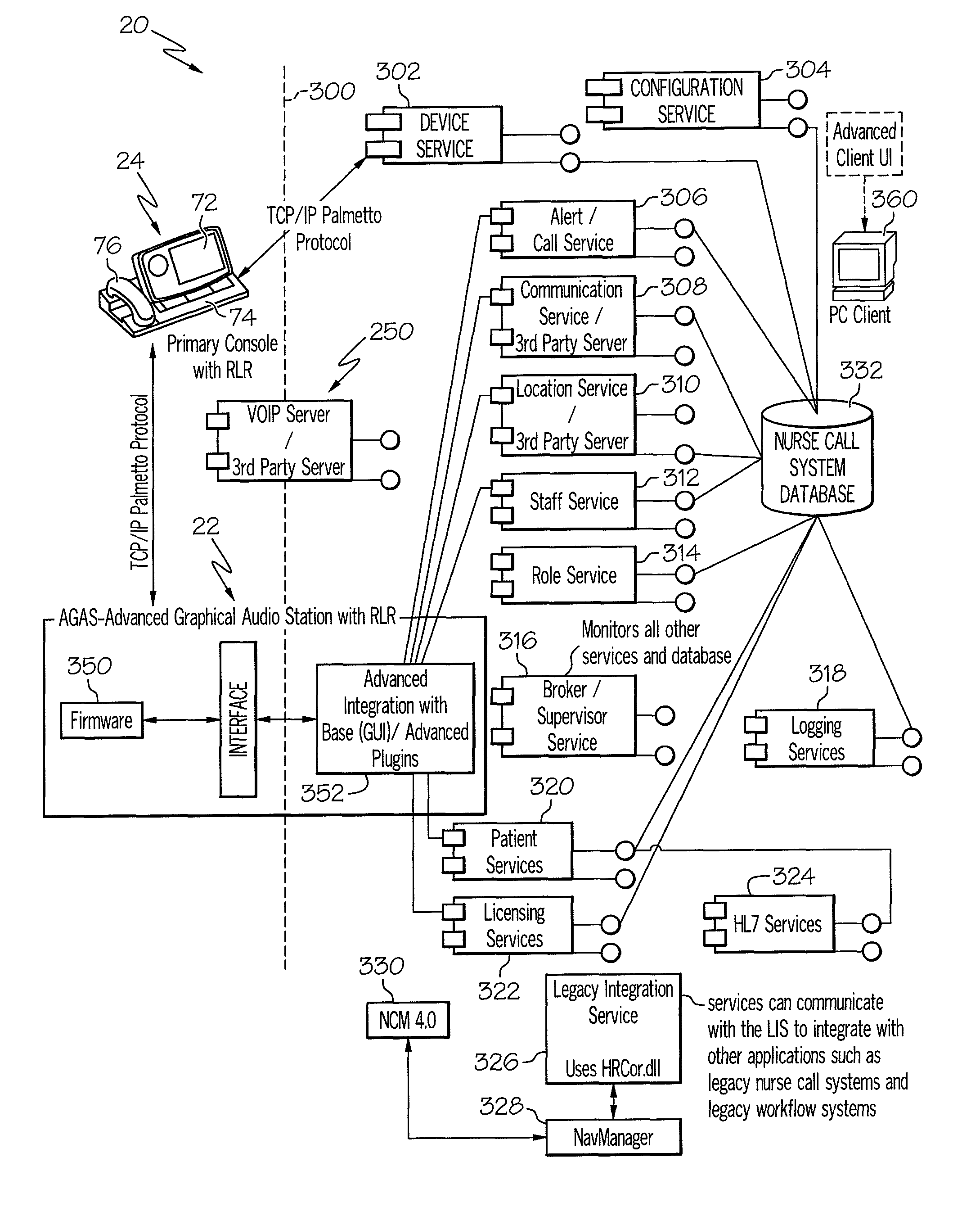 US08046625 20111025 D00000 patent us8046625 distributed fault tolerant architecture for a executone nurse call wiring diagram at bakdesigns.co