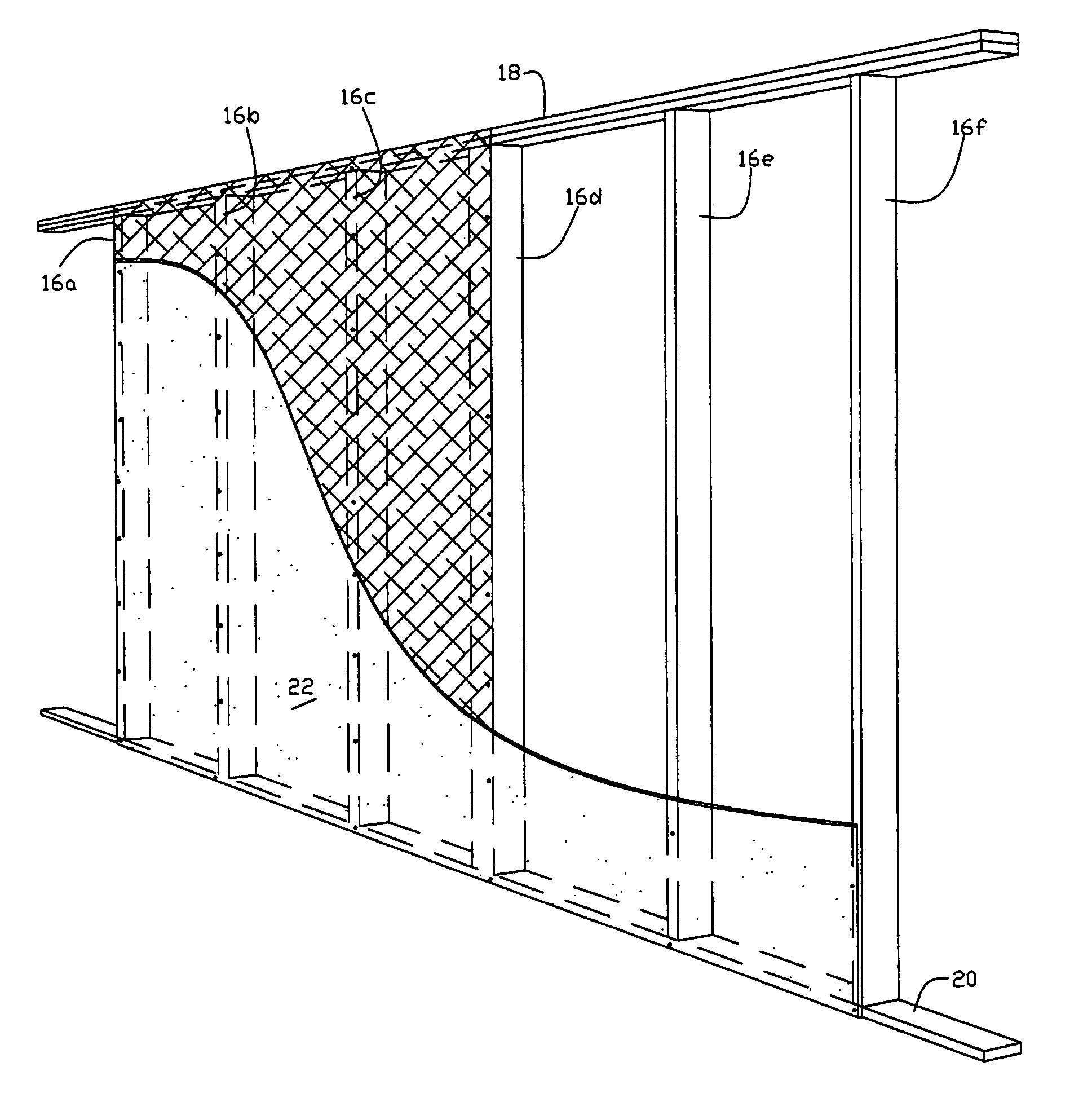Patent US8056301 Method Of Framing A Building Shear Wall Structure Compatib
