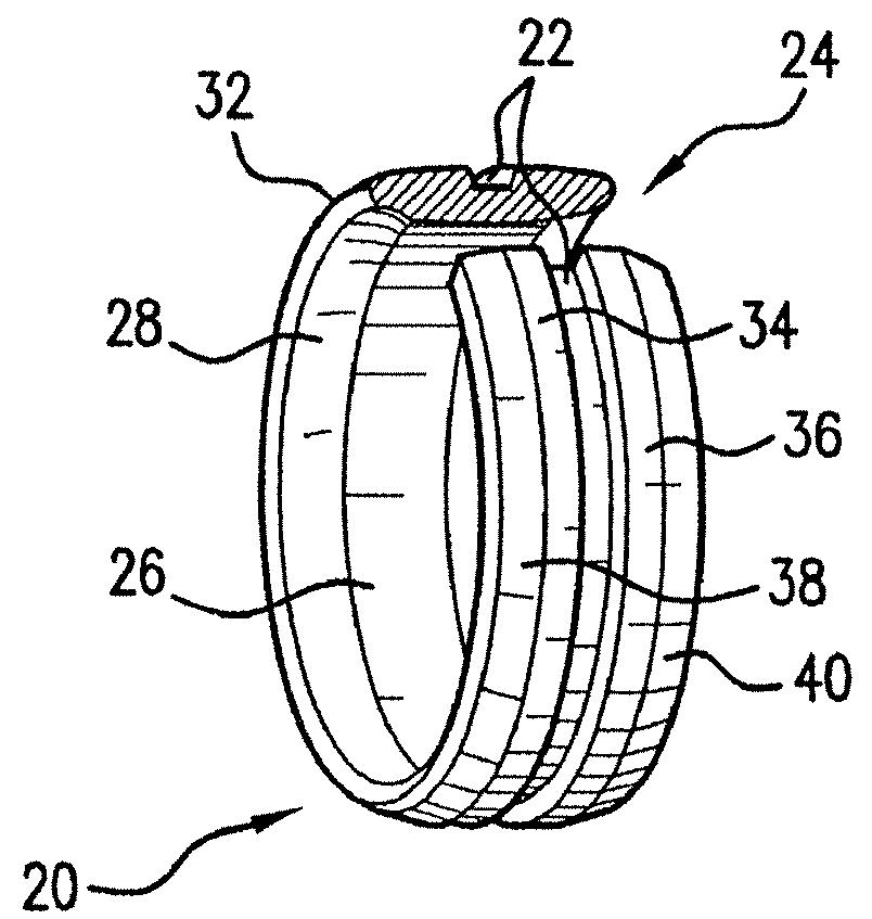 Iridium Wedding Band 71 Perfect Patent Drawing