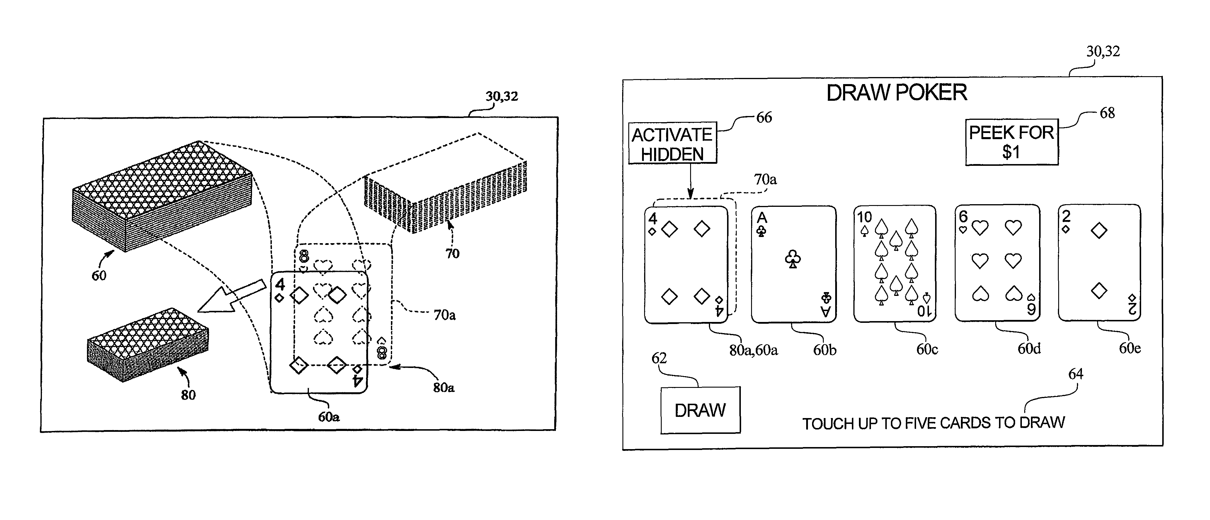 patent us8062119 apparatus and method for memorization poker