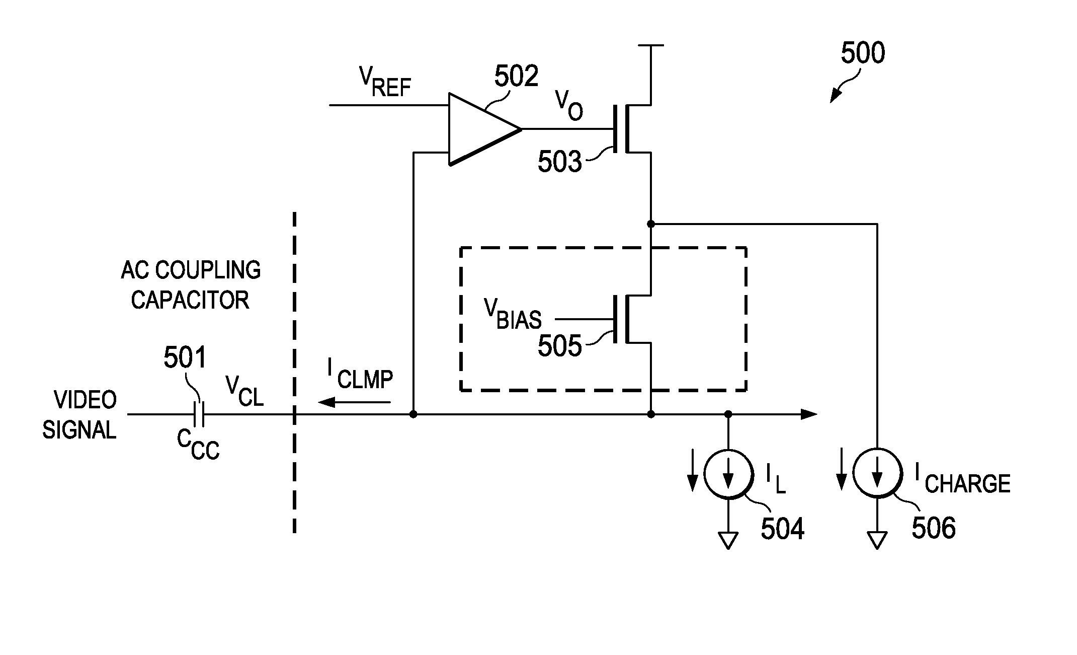 Brevet Us8063688 Ac Clamp Circuit For Video Applications Google How To Place A Coupling Capacitor In Patent Drawing