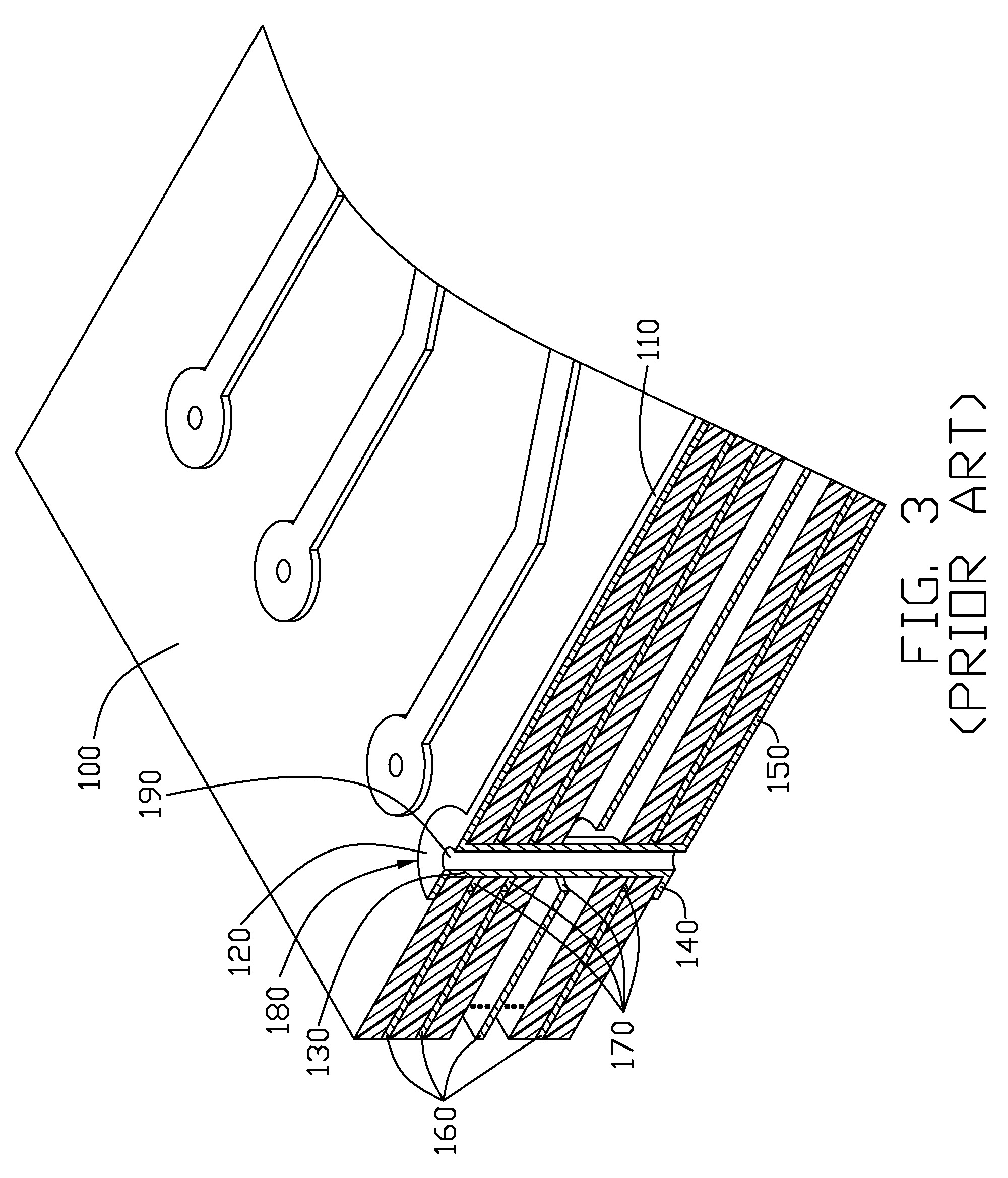 patent us8067700 - via structure of printed circuit board