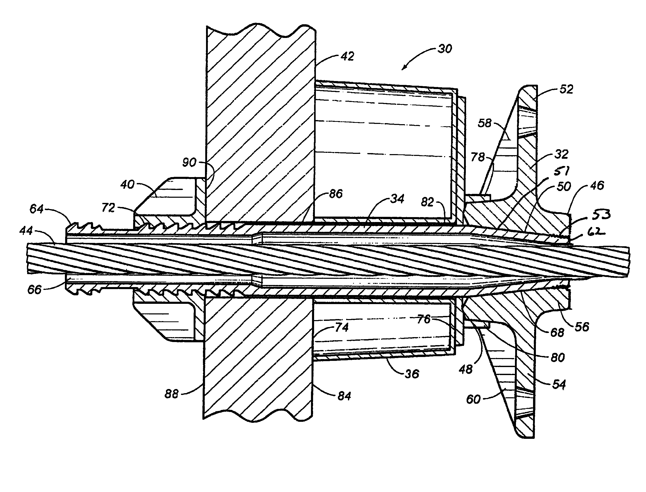 Patent us pocketformer assembly for a post