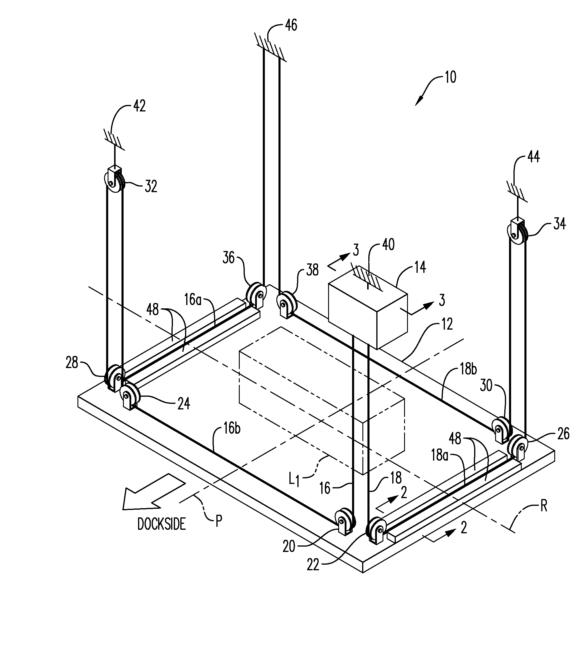 Patent Us8070134 Stabilized Single Motor Lift System
