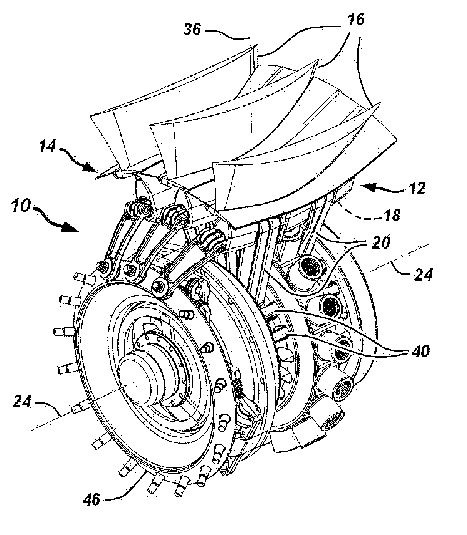 Variable Pitch Fan : Patent us fan blade retention and variable pitch