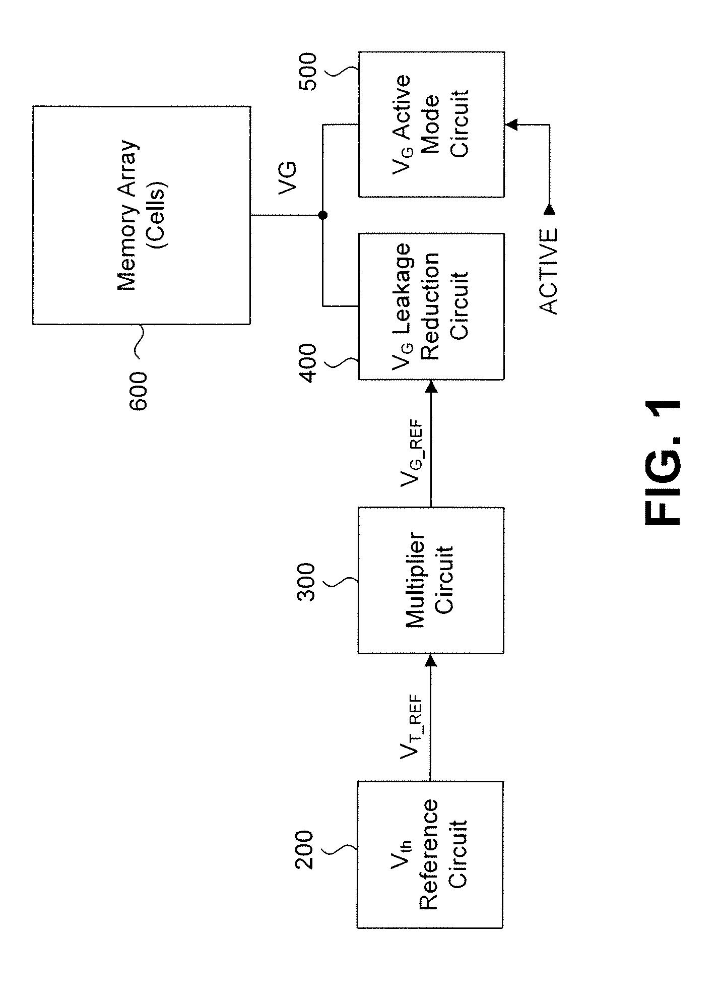 patent us8077527 - sram leakage reduction circuit