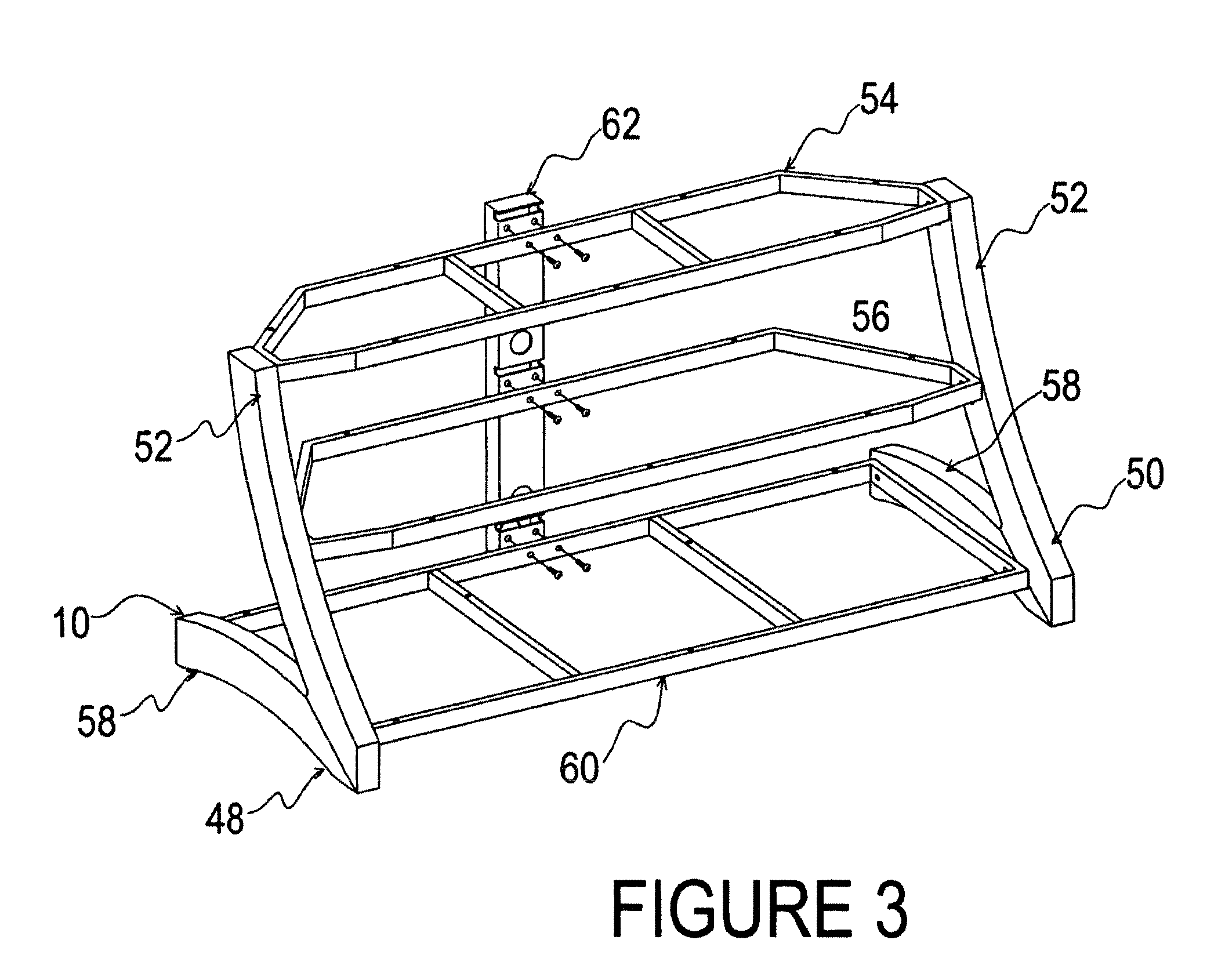 patent us8079311 - television support and mounting kit