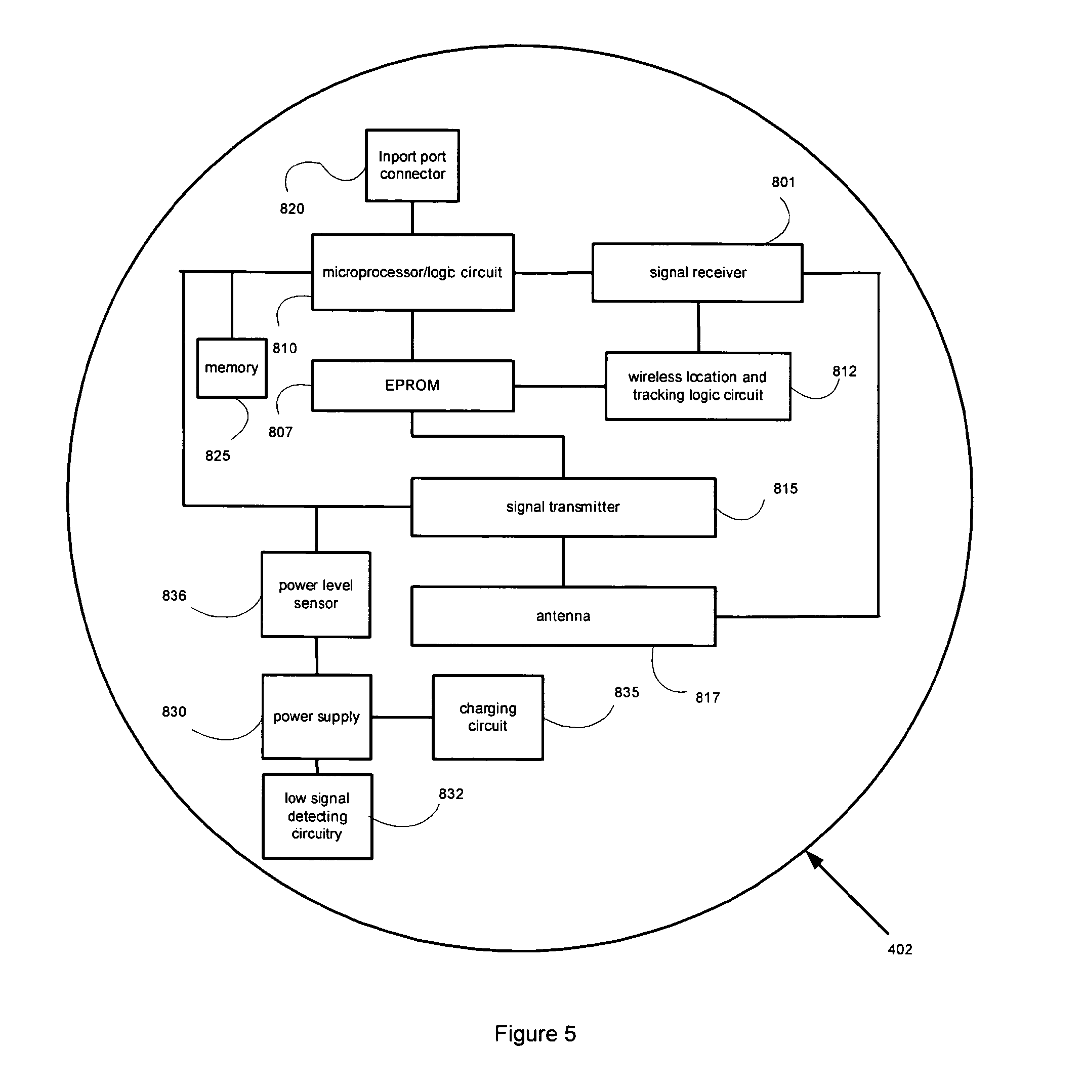 Patent Us8081072 Adaptable User Interface For Monitoring Location Charger Circuit Diagram As Well On Magellan Gps Diagrams Drawing