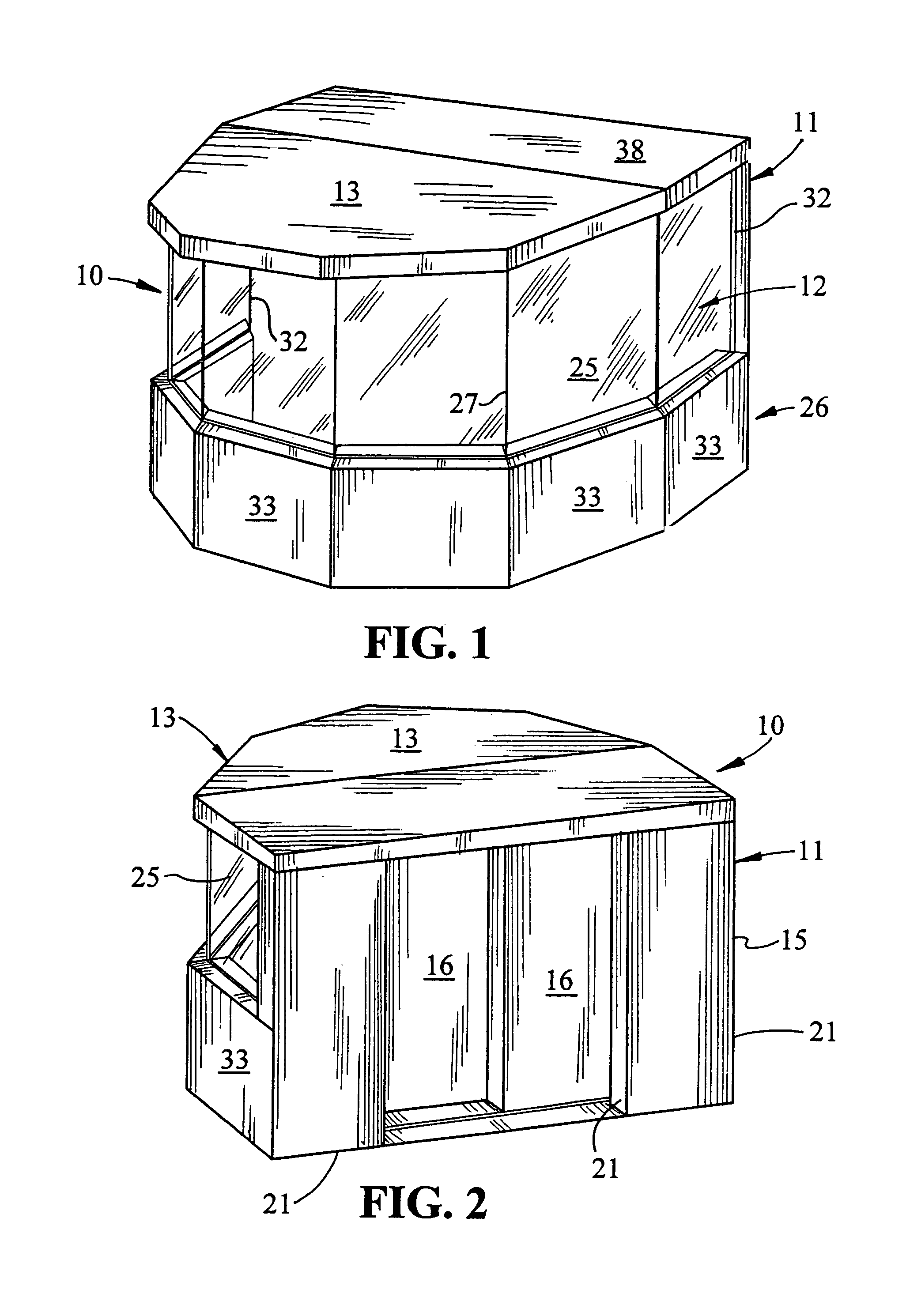 patent us8083023 - drum booth and kit for its construction