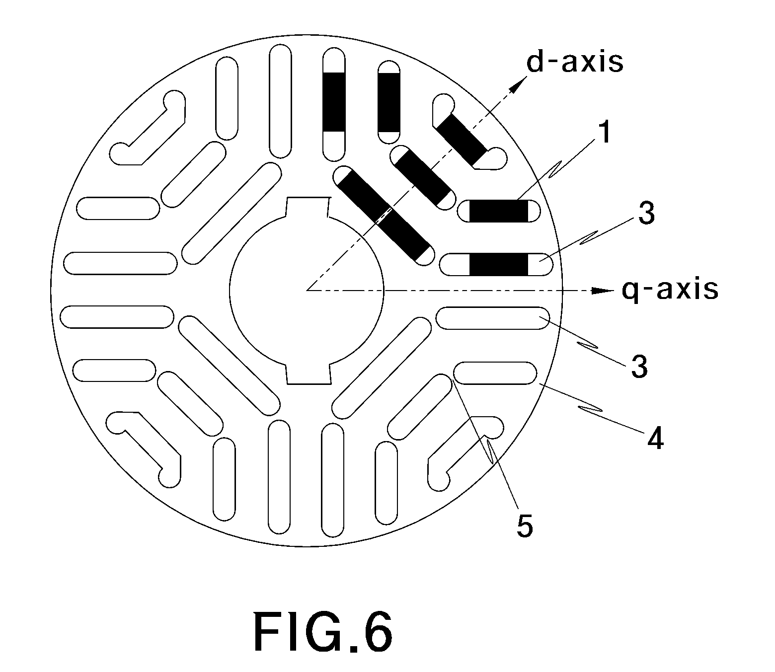 Patent Us8089190 Rotor For An Interior Permanent Magnet Synchronous Motor Google Patents