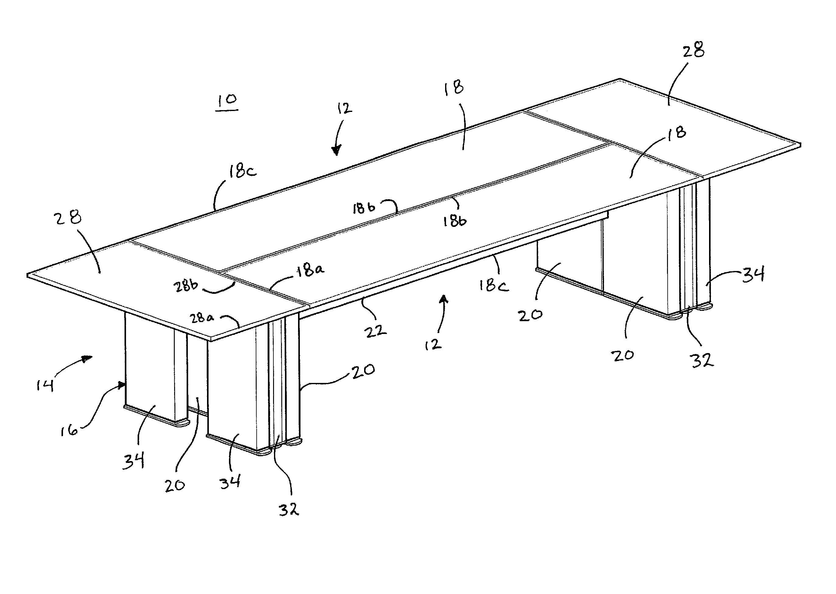 Patent US Modular conference table Google Patents