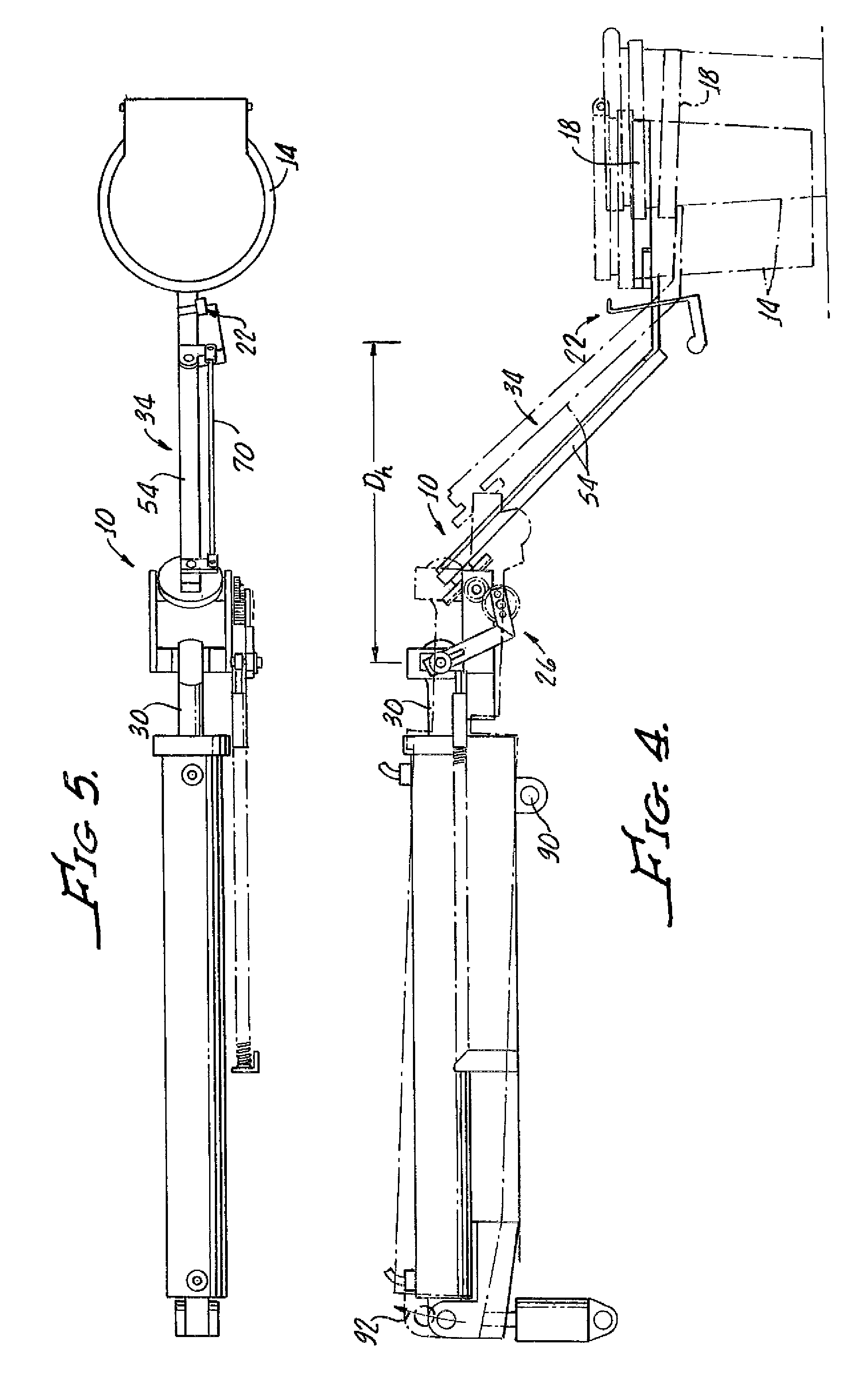 Drawing Arm Lifts : Patent us articulated lift arm google patents