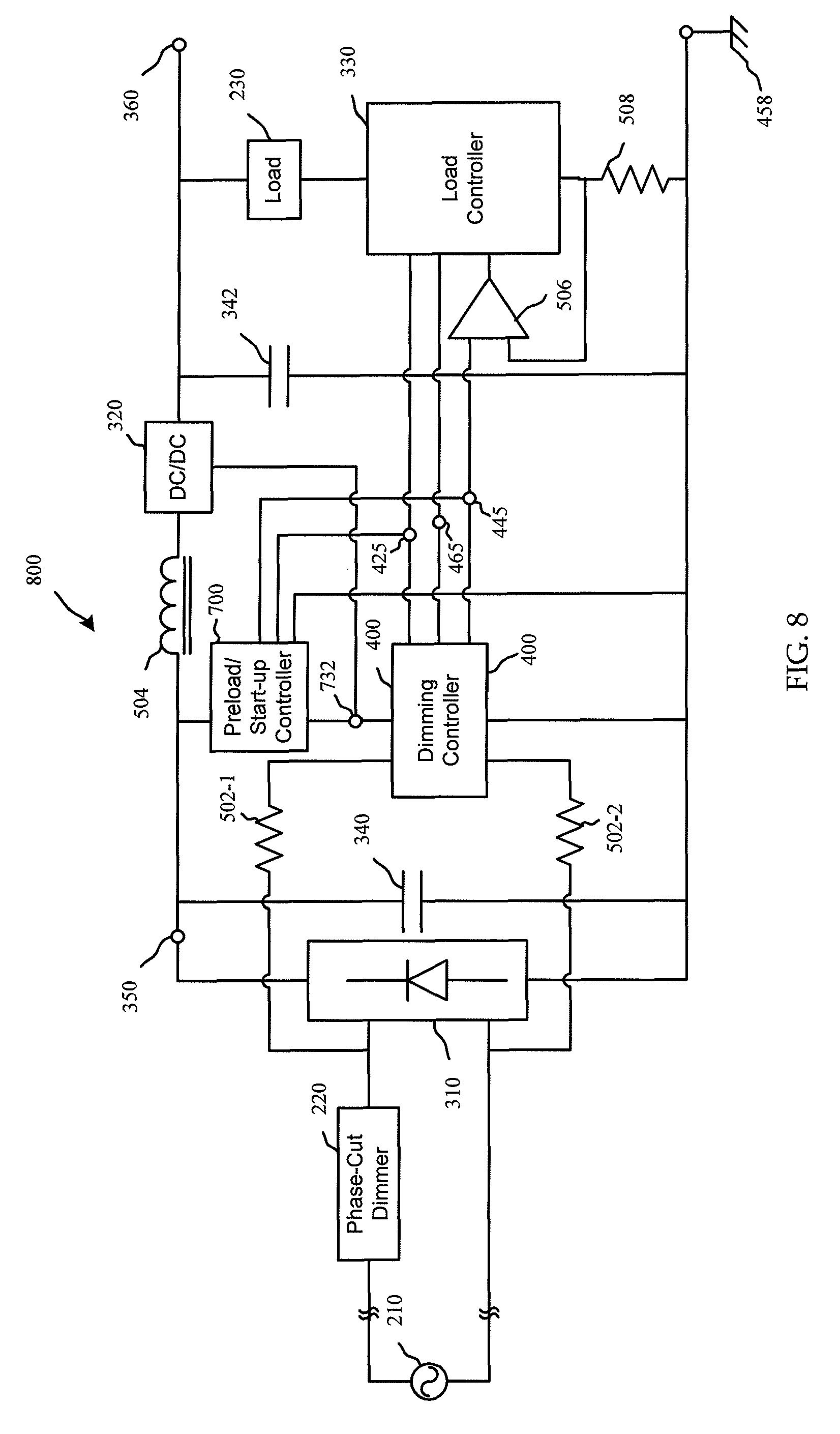 patent us8102167 - phase-cut dimming circuit