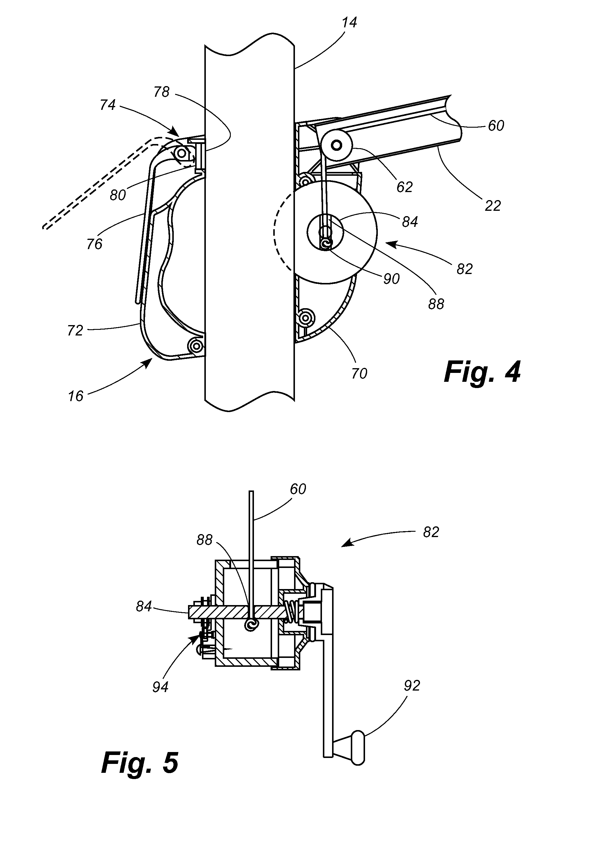 patent us8104492 - adjustable offset umbrella
