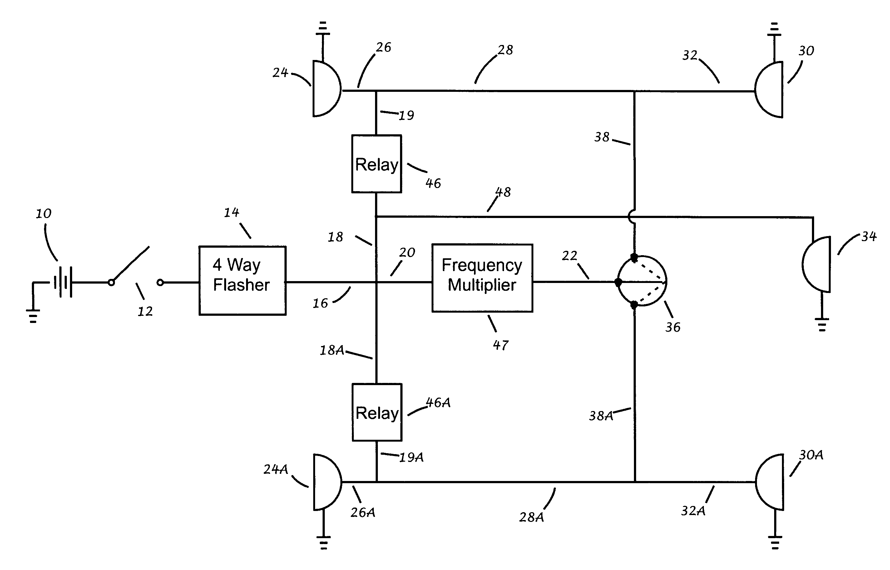patent us8106760 turn signals generated during operation of patent drawing