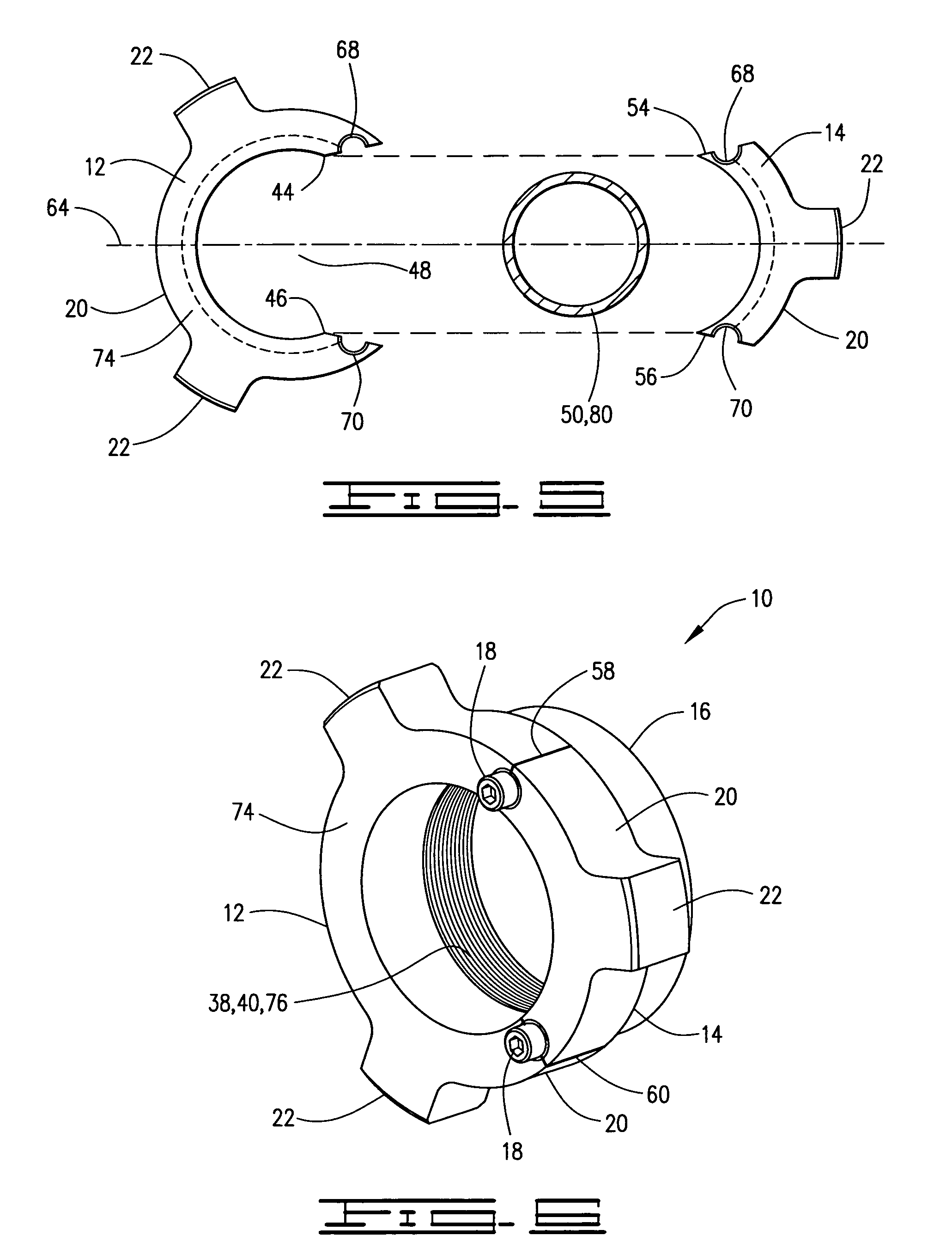 Patent us field replaceable hammer union wing nut