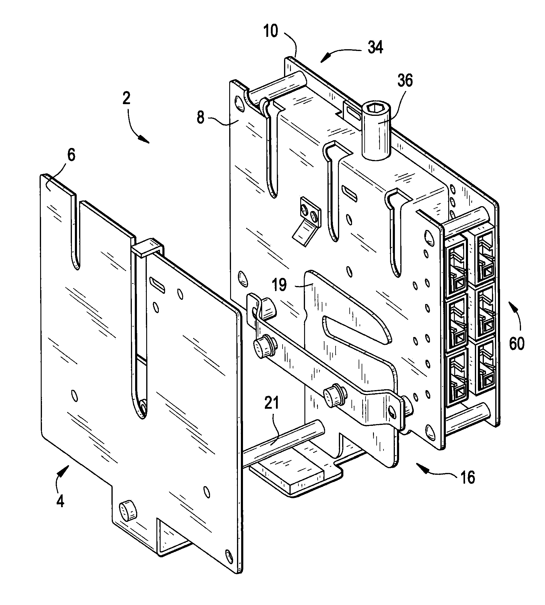 patent us8119943 - draw-out mechanism for molded case circuit breakers