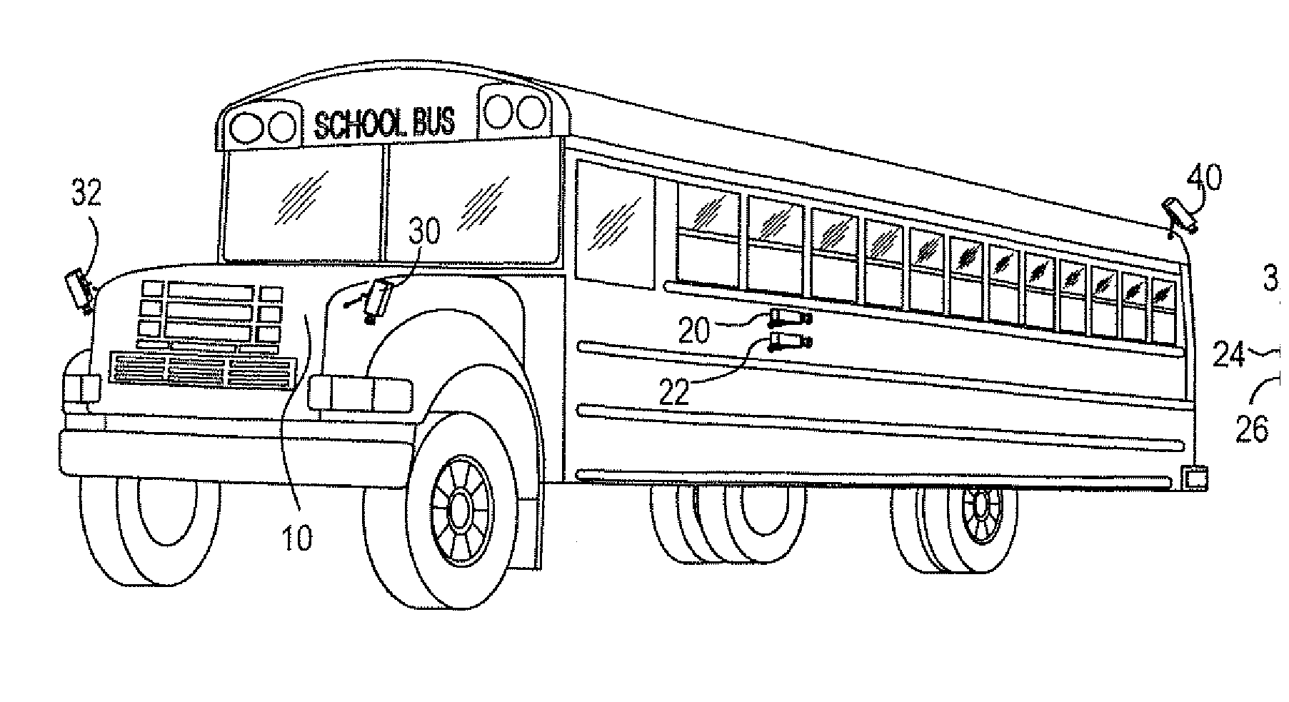 Uncategorized School Bus Drawings patent us8120653 video monitoring system for school buses drawing