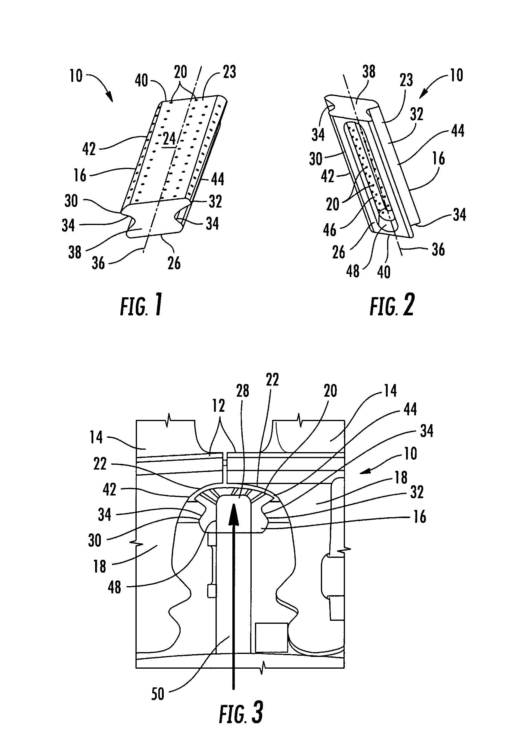 Patent US Turbine airfoil cooling system with rotor