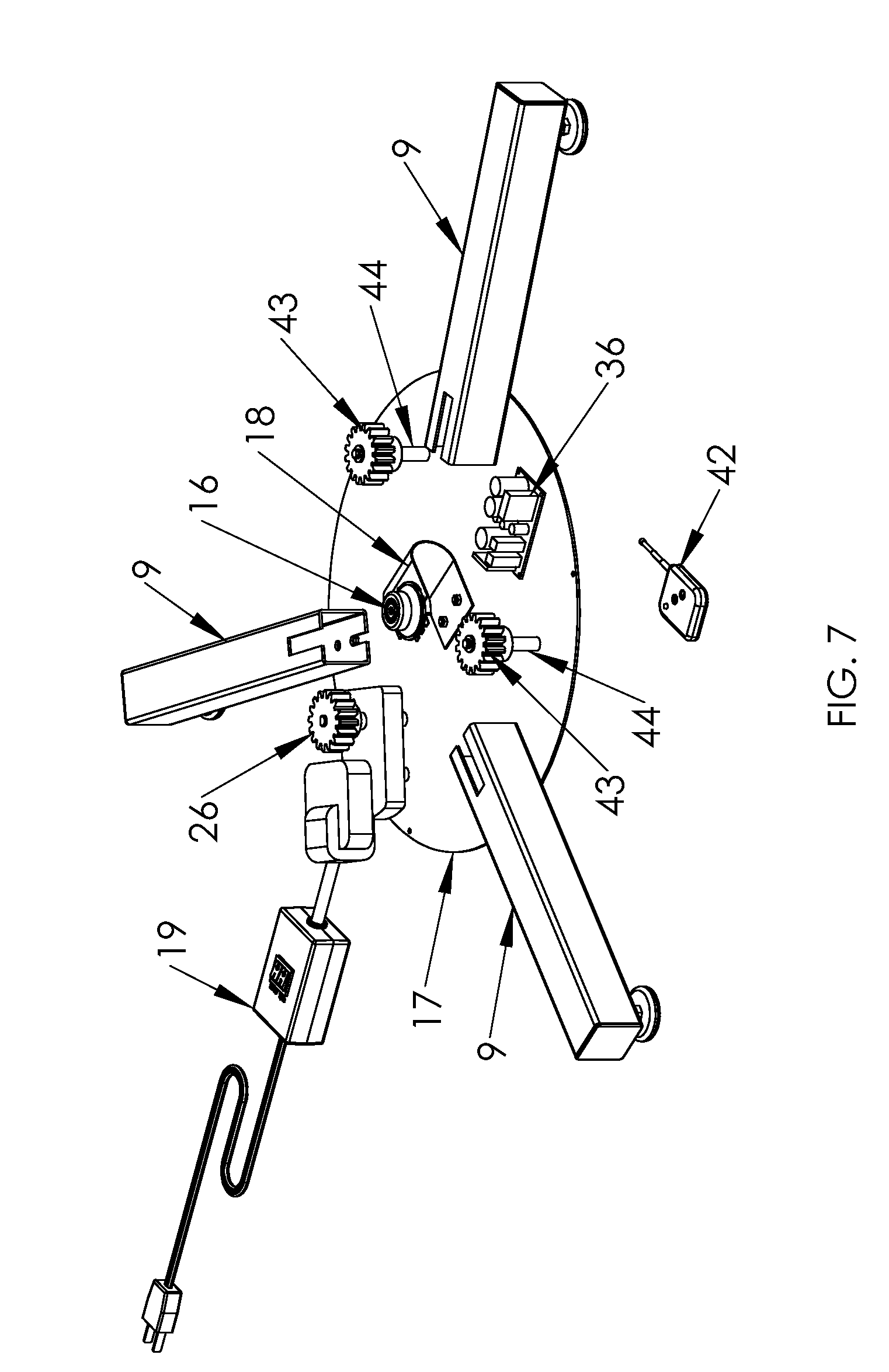 patent us8132360 - self-watering and rotating christmas tree stand