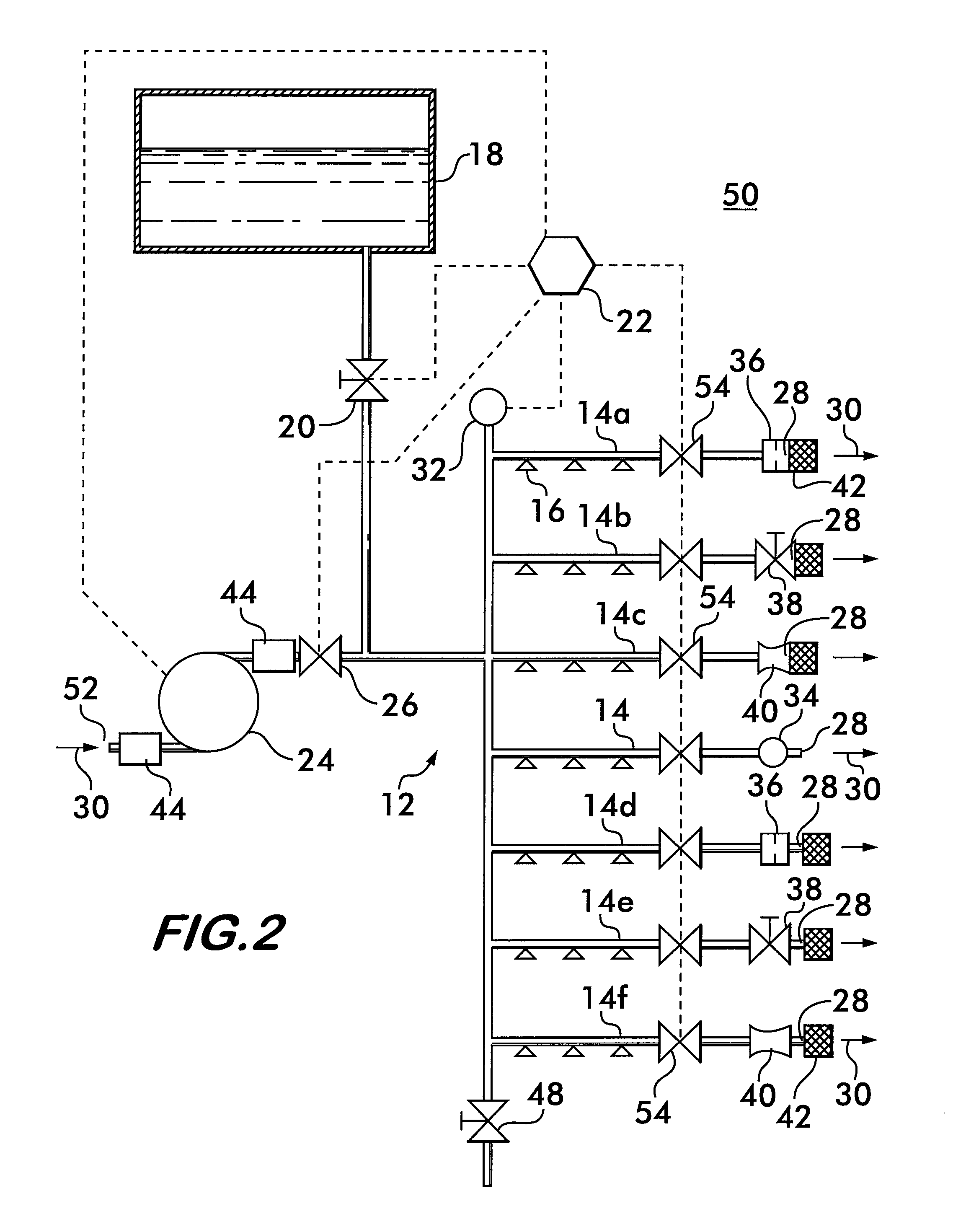 patent us8132629 - method and apparatus for drying sprinkler piping networks