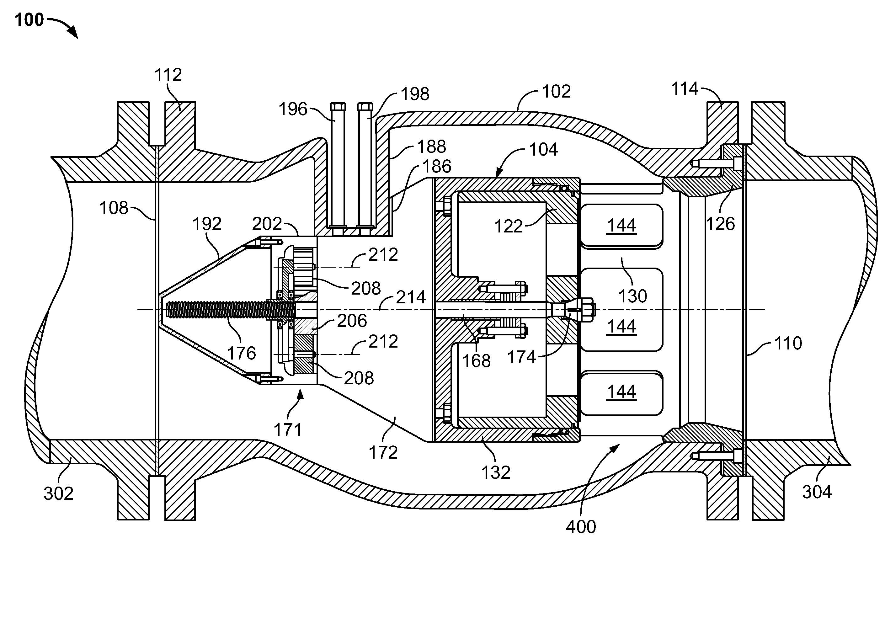 Axial Flow Regulator : Patent us axial flow control valves having an