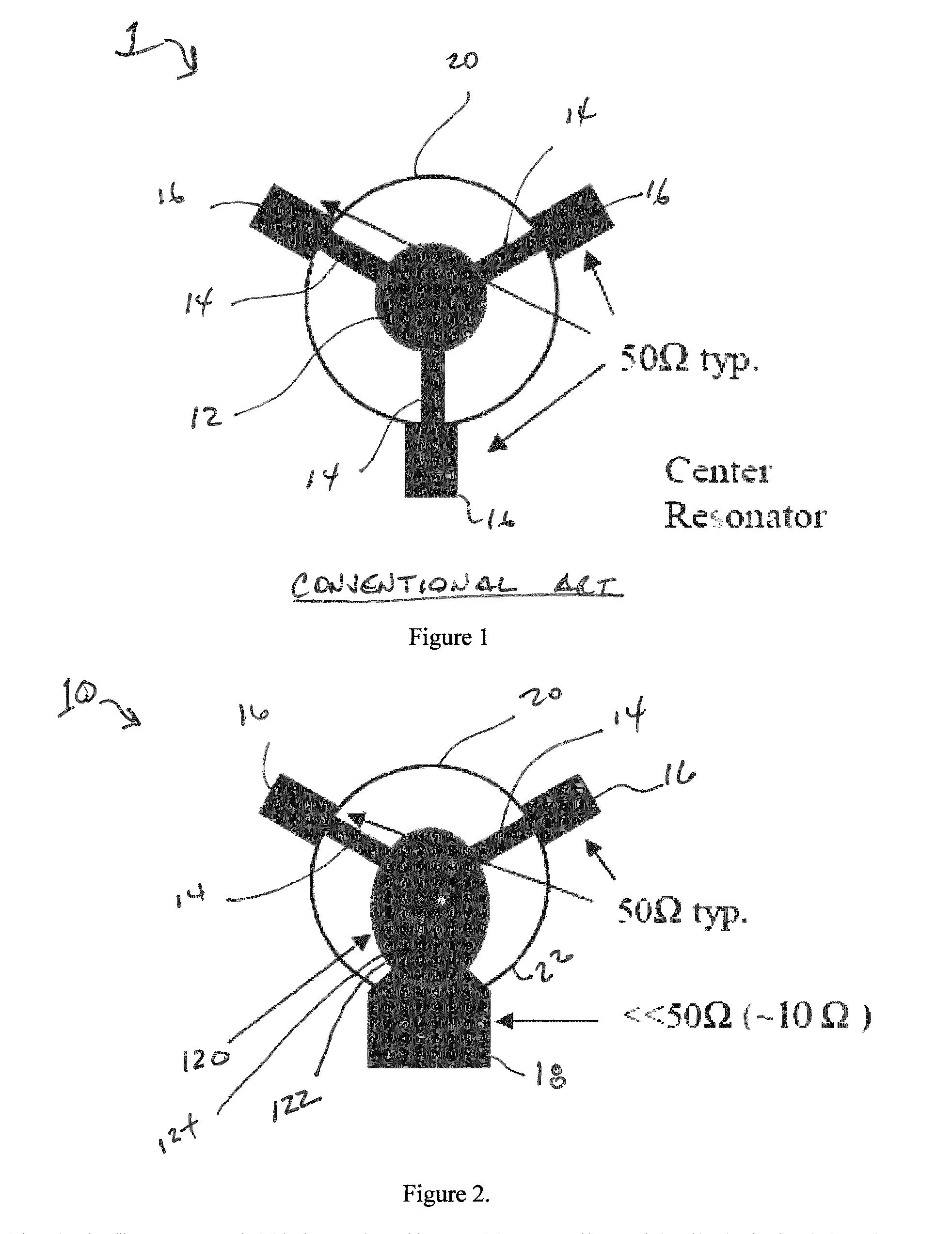patent us8138848 - circulator  isolator with an asymmetric resonator