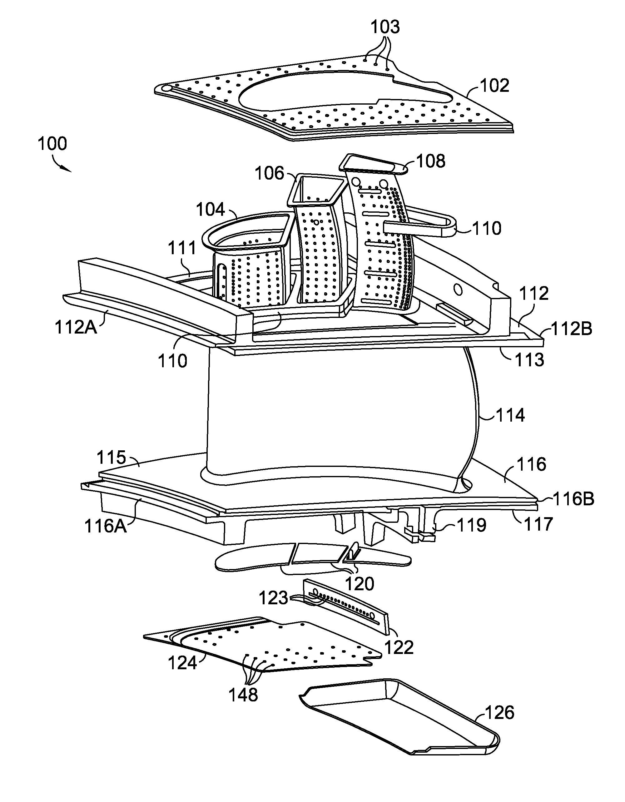 patent us8142137 - cooled gas turbine vane assembly
