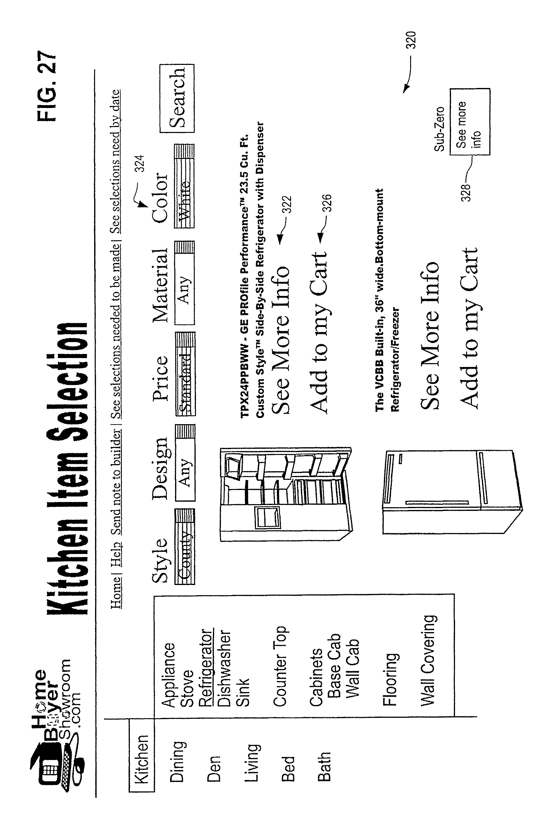 Patent us8145533 builders on line assistant google for New home construction selection sheet