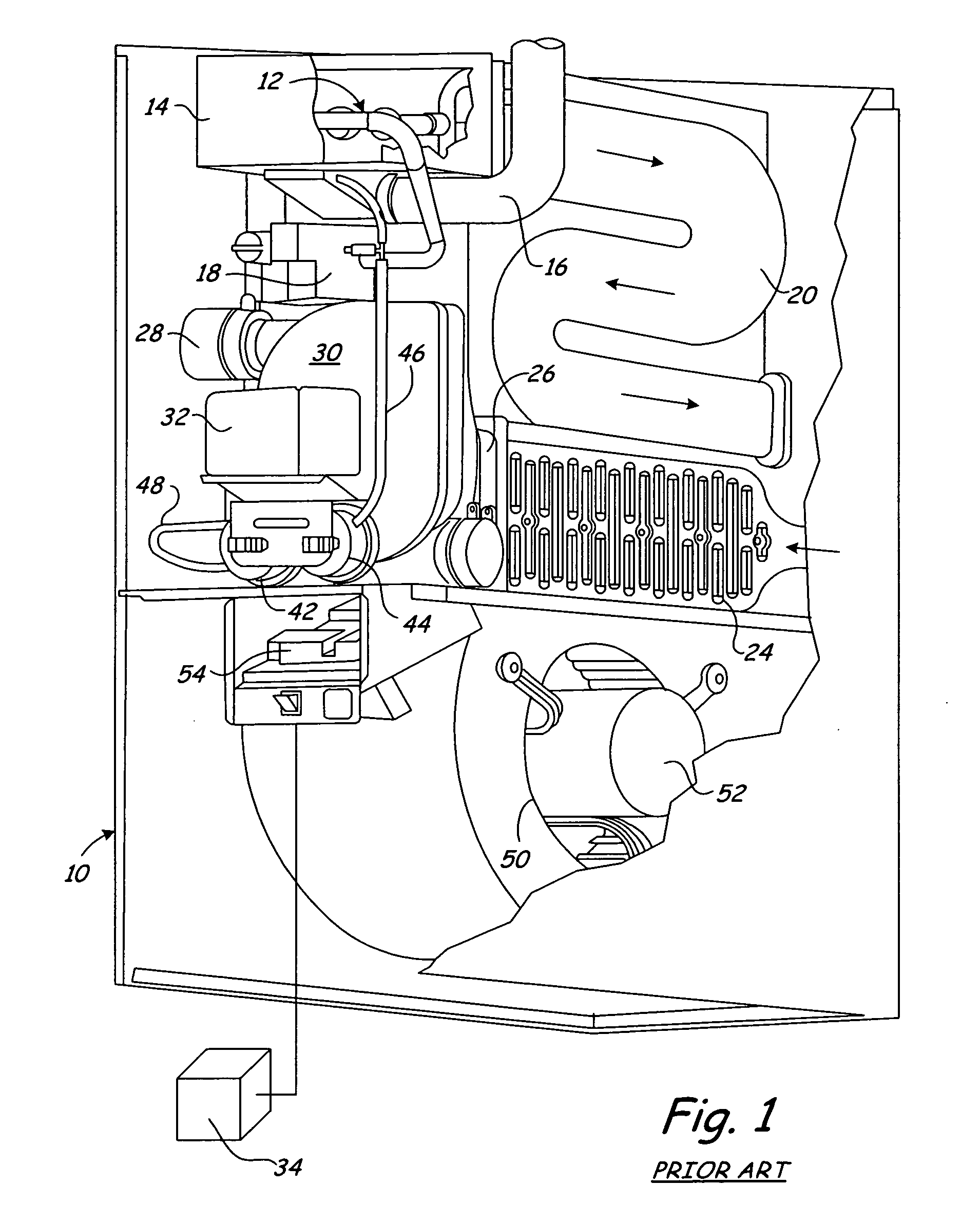 patent us8146584 - pressure switch assembly for a furnace