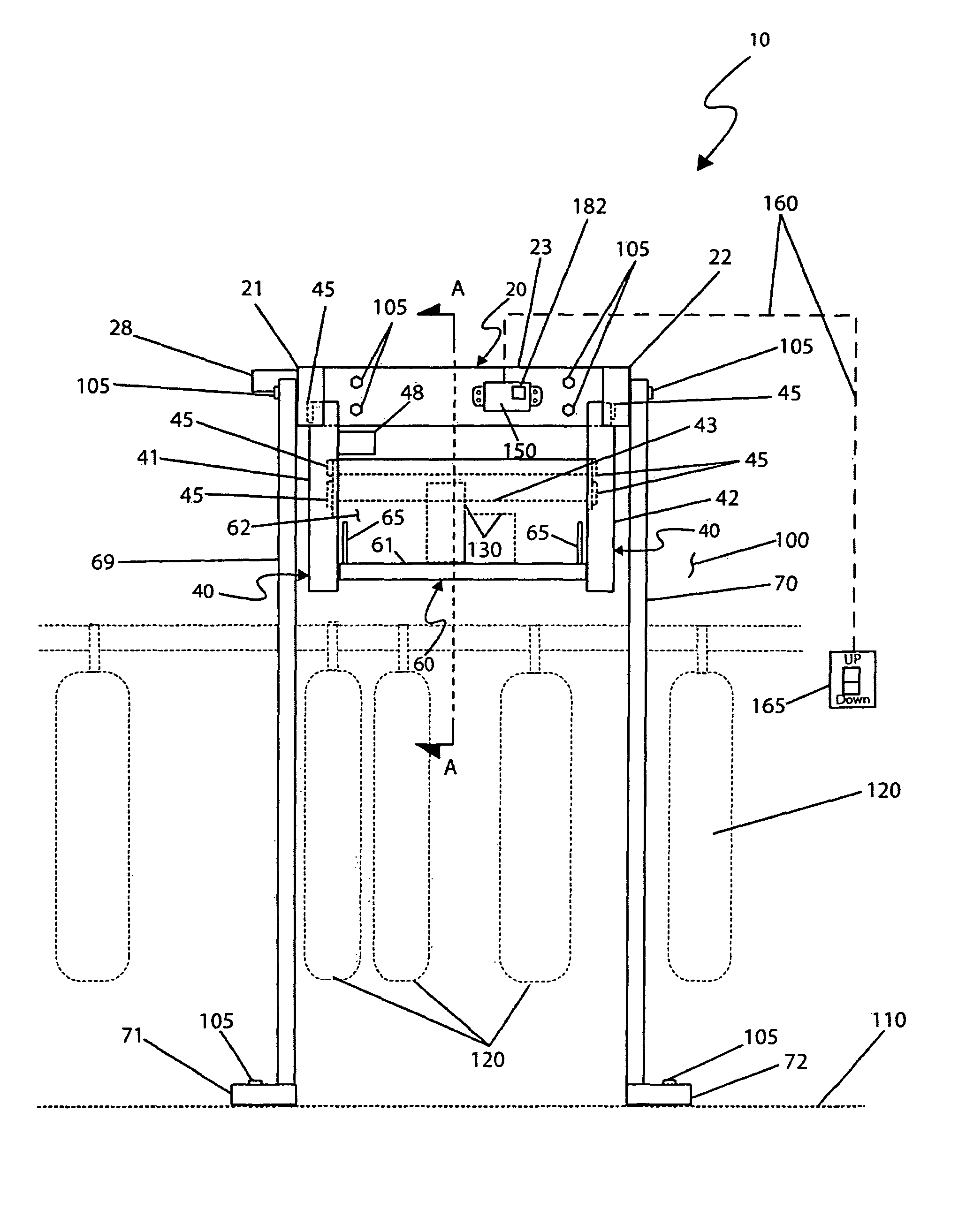 Patent US8157108 - Pull-out, drop-down closet storage ...
