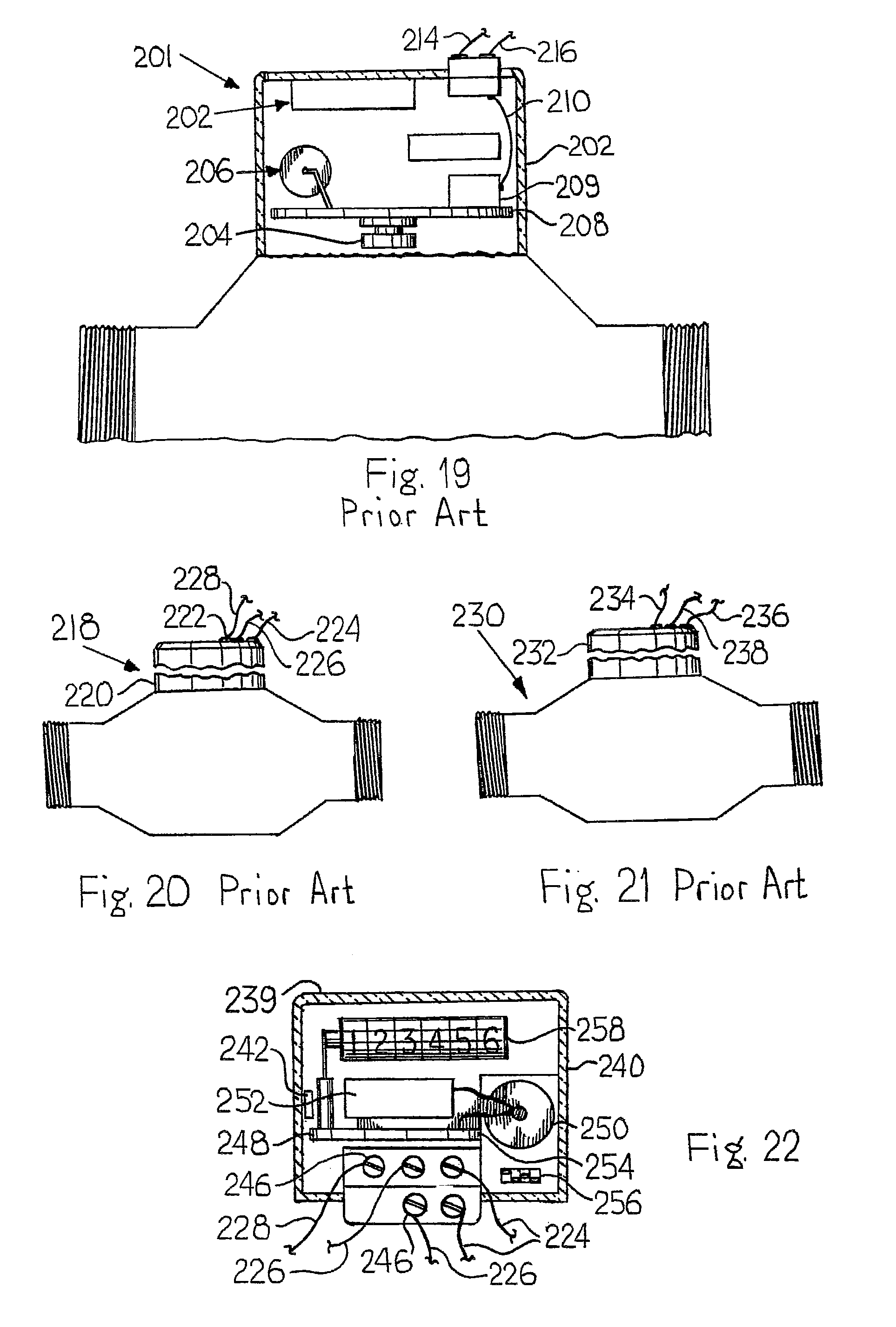 patent us8157160 meter register and remote meter reader patent drawing
