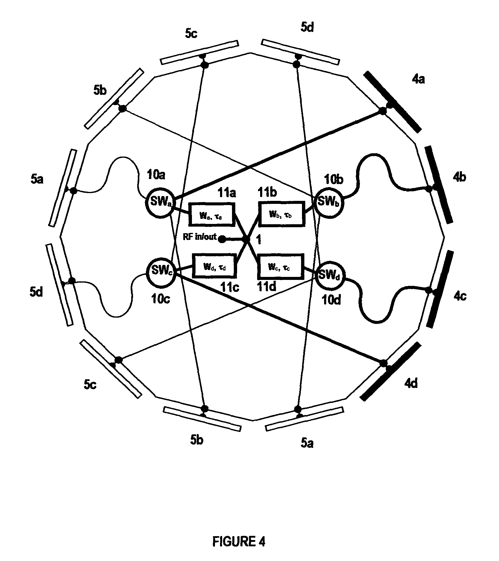 patent us8159394 - selectable beam antenna