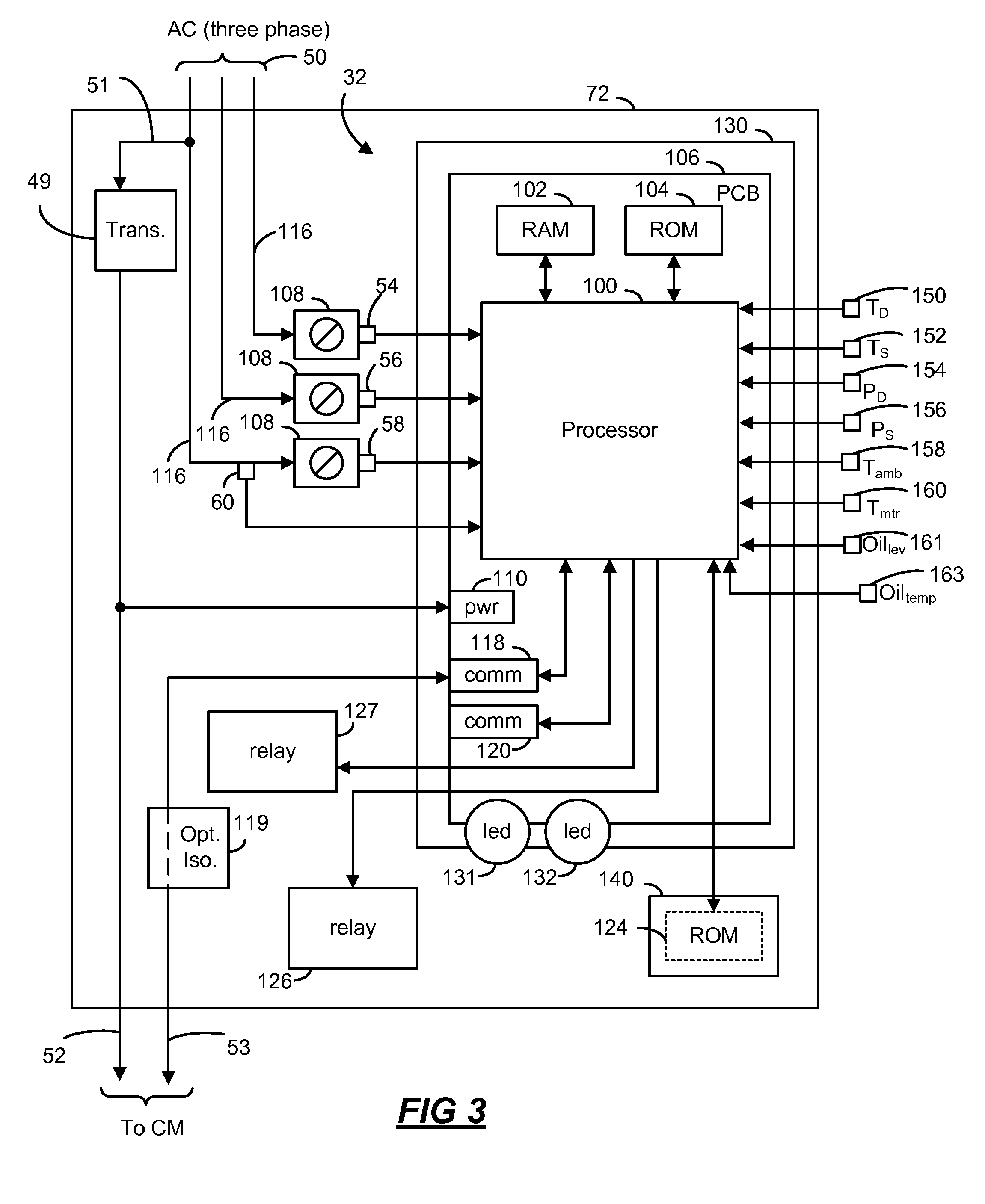 US08160827 20120417 D00003 patent us8160827 compressor sensor module google patents trane economizer wiring diagram at gsmx.co