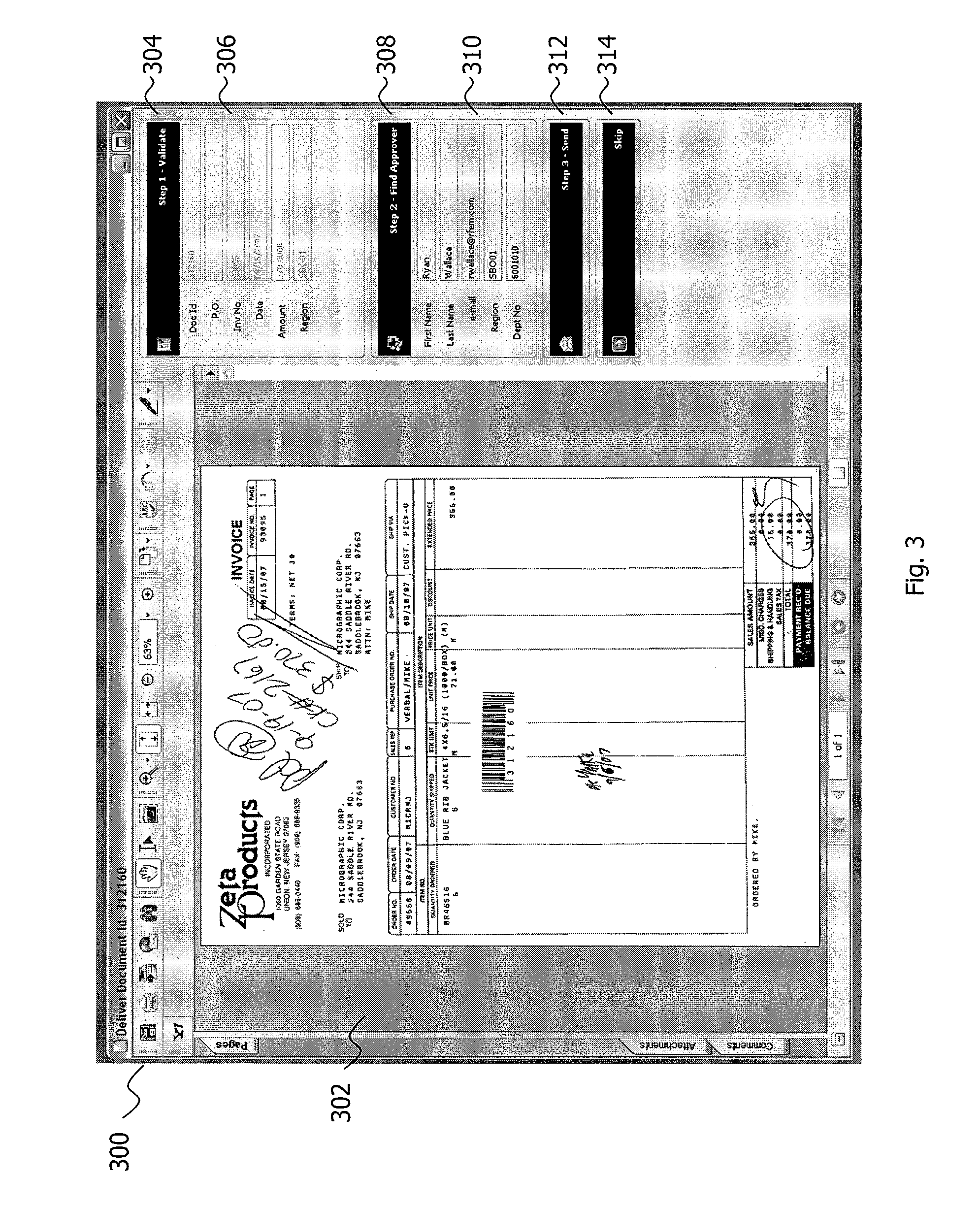 Cash Receipts Journal Example Word Patent Us  Automated Invoice Processing Software And  Tax Invoice Template Australia Word with Ms Invoice Template Patent Drawing Sample Ebay Invoice Pdf