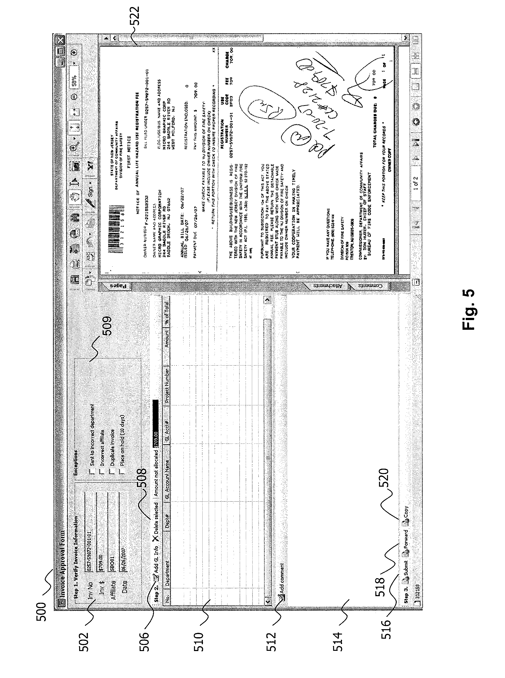 Written Receipt Pdf Patent Us  Automated Invoice Processing Software And  Tenant Receipt Template Pdf with Goods Receipt Form Excel Patent Drawing Mgm Grand Receipt