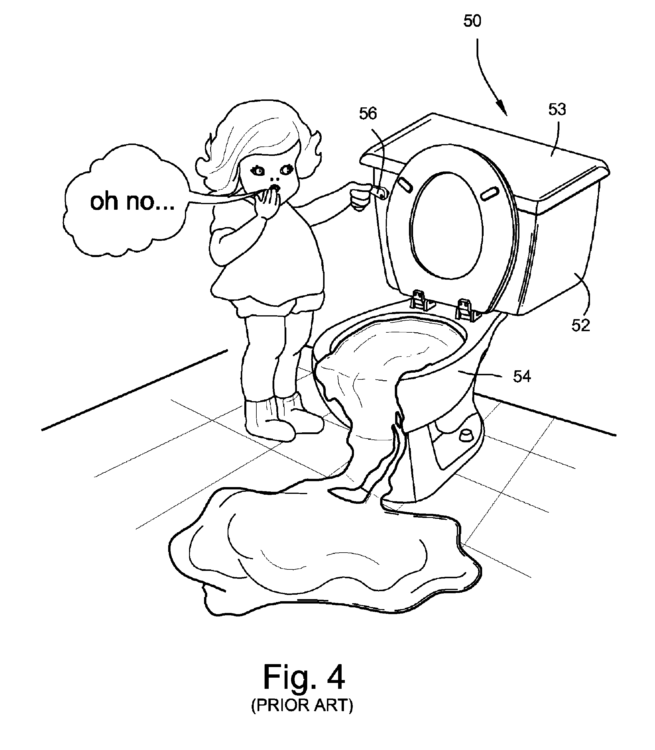 patent us8166996 toilet bowl overflow prevention and water