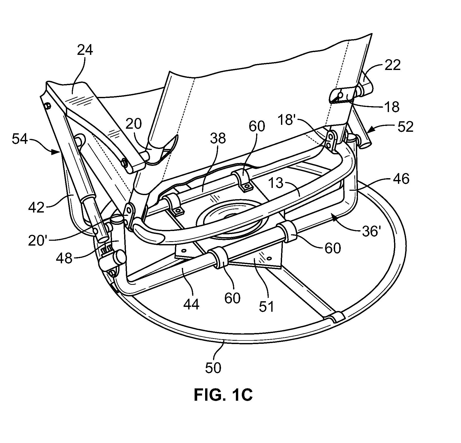 Patent US8167374 - Portable folding chair - Google Patents
