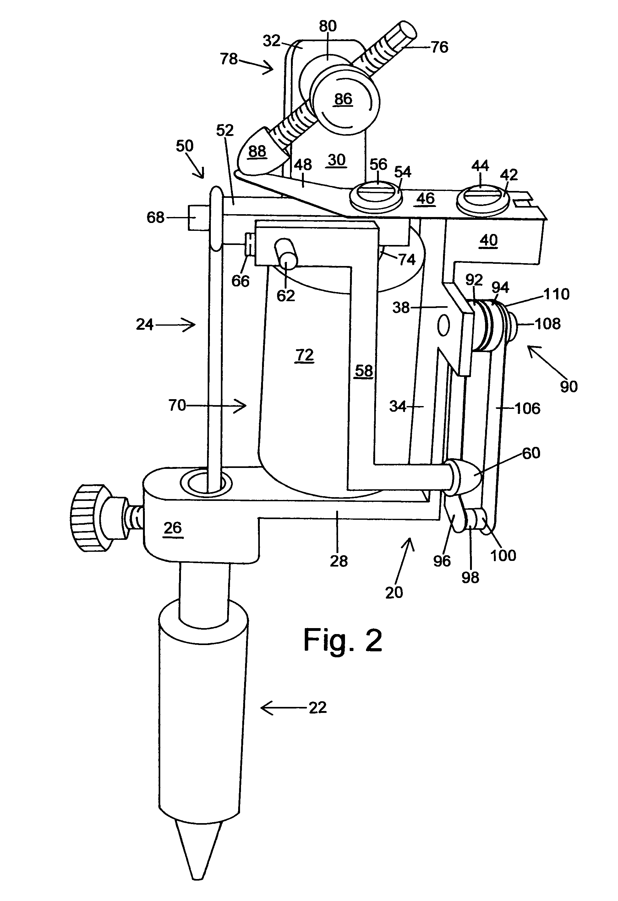 US08171825 20120508 D00002 patent us8171825 magnetic coil tattooing machine google patents tattoo machine wiring diagram at webbmarketing.co