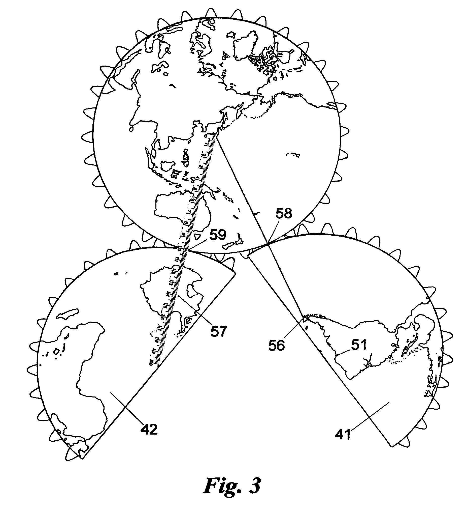 Patent US Map In Azimuthal Equidistant Hemispheric - Equidistant point calculator us map