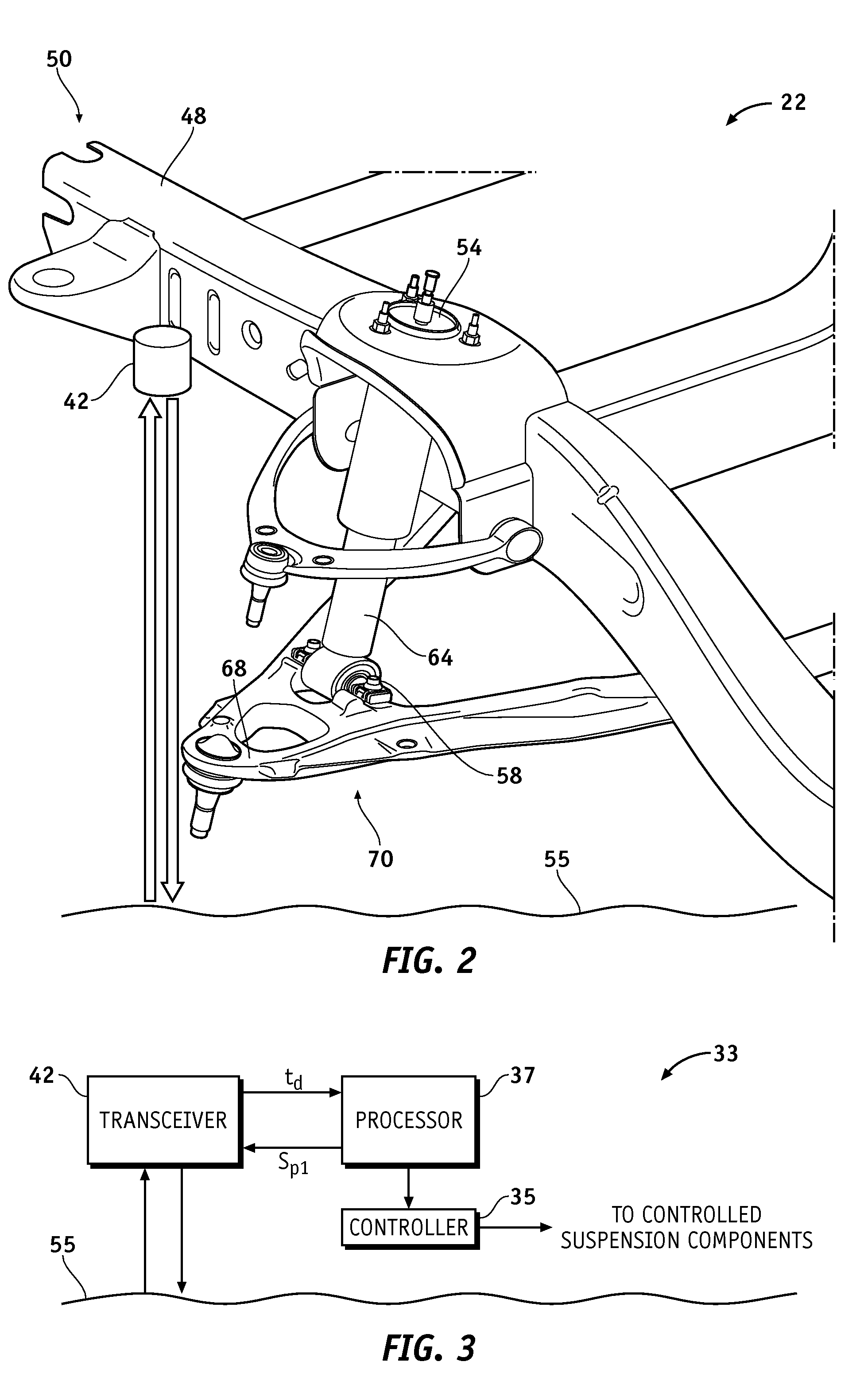 Patent US8175770 - Height sensing system for a vehicular ...