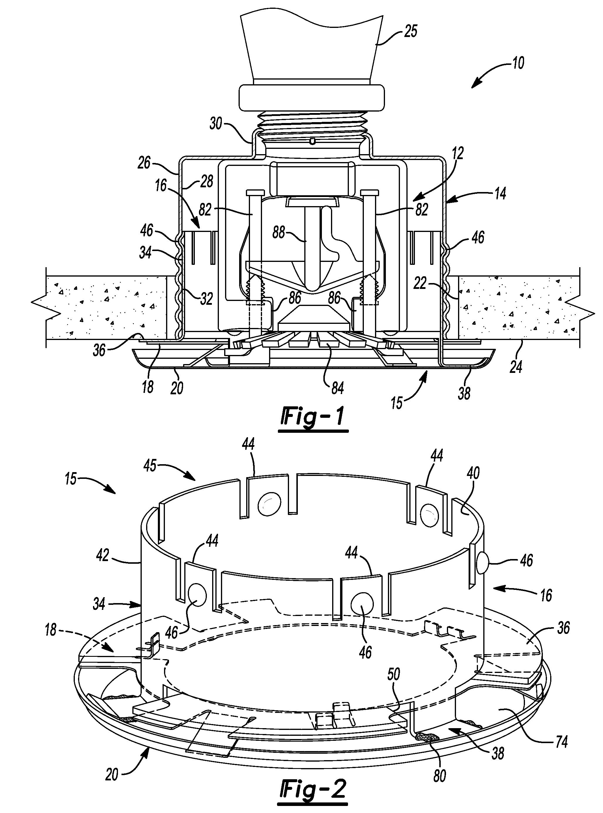 patent us8176987 - self-aligning cover spring for a concealed sprinkler