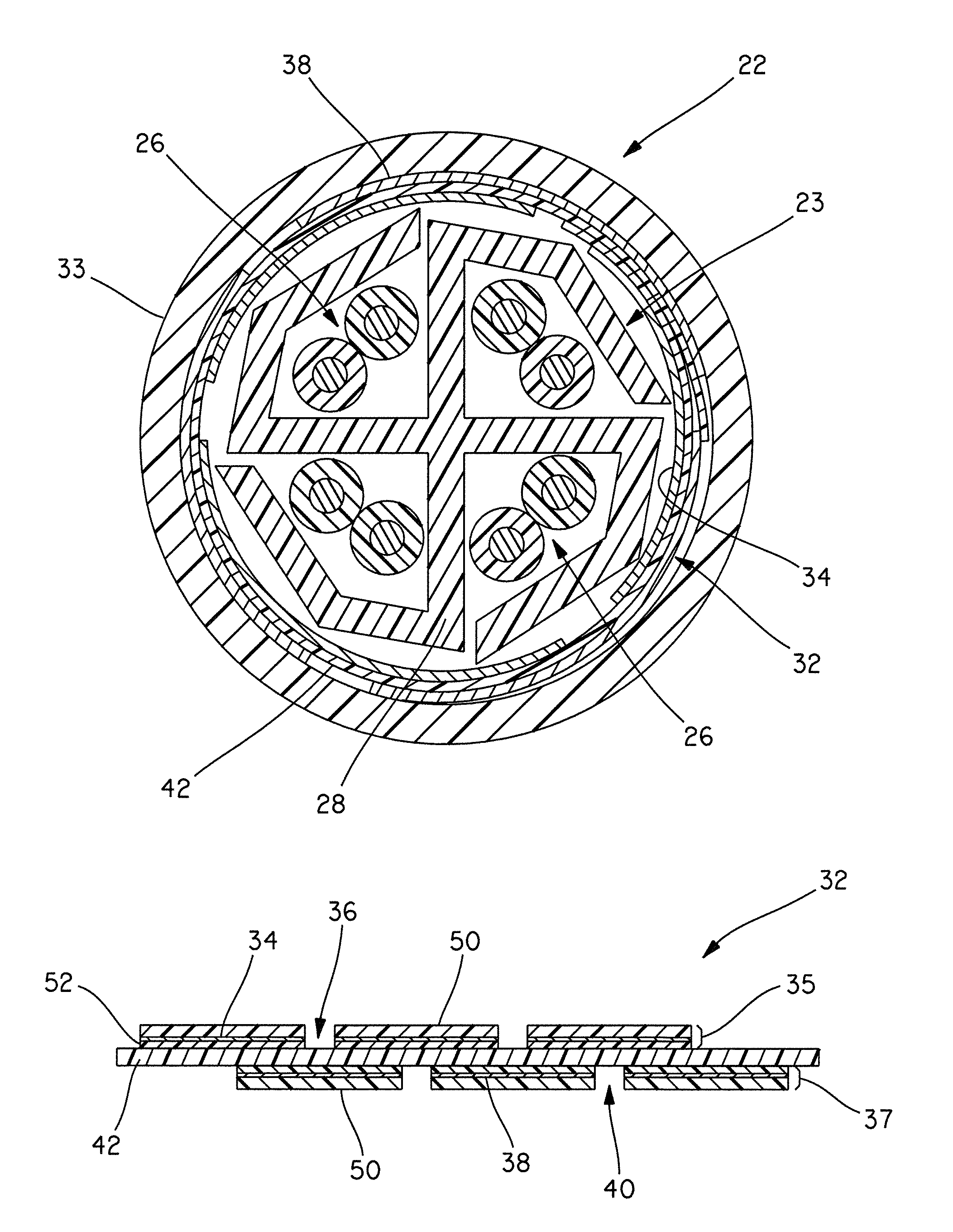 patent us8183462 munication cable with improved crosstalk RJ21 Connector Pinout patent drawing